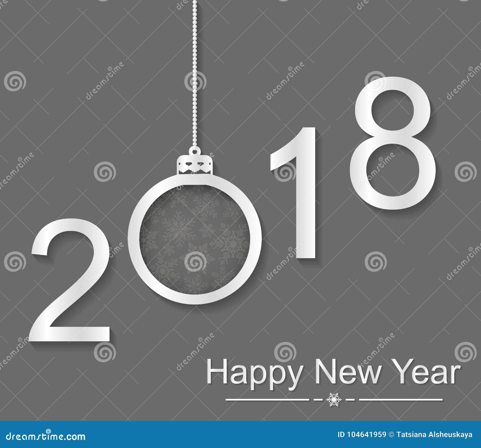 Download Gelukkig Nieuw Jaar 2018 Tekst, Ontwerpelement Vector Illustratie - Illustratie bestaande uit partij, gelukkig: 104641959