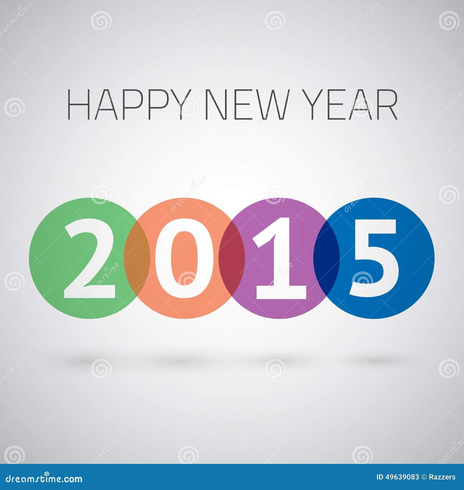 Gelukkig Nieuwjaar 2015 Kleurrijke Cirkelsvector
