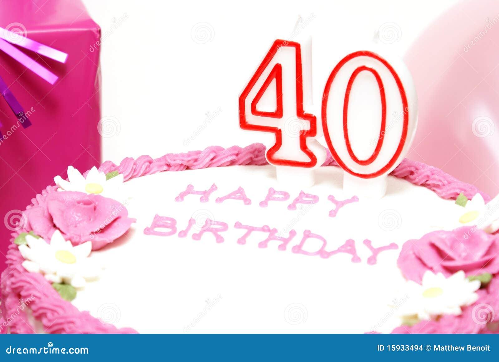 Gelukkige 40ste Verjaardag Stock Foto Afbeelding Bestaande Uit