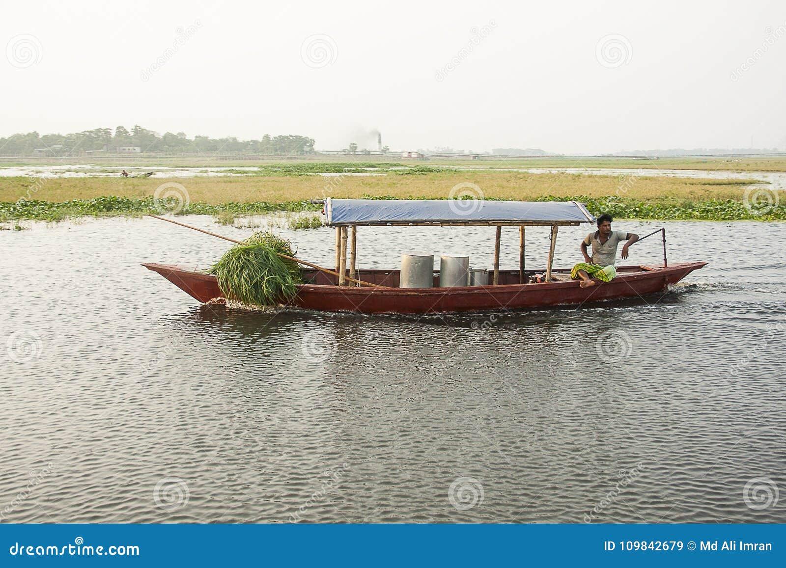 Gelukkige boatman