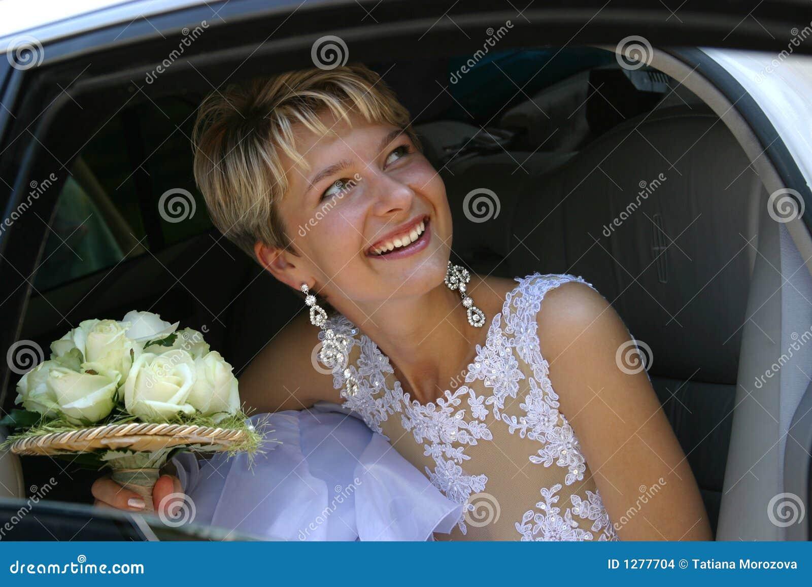Gelukkige bruid