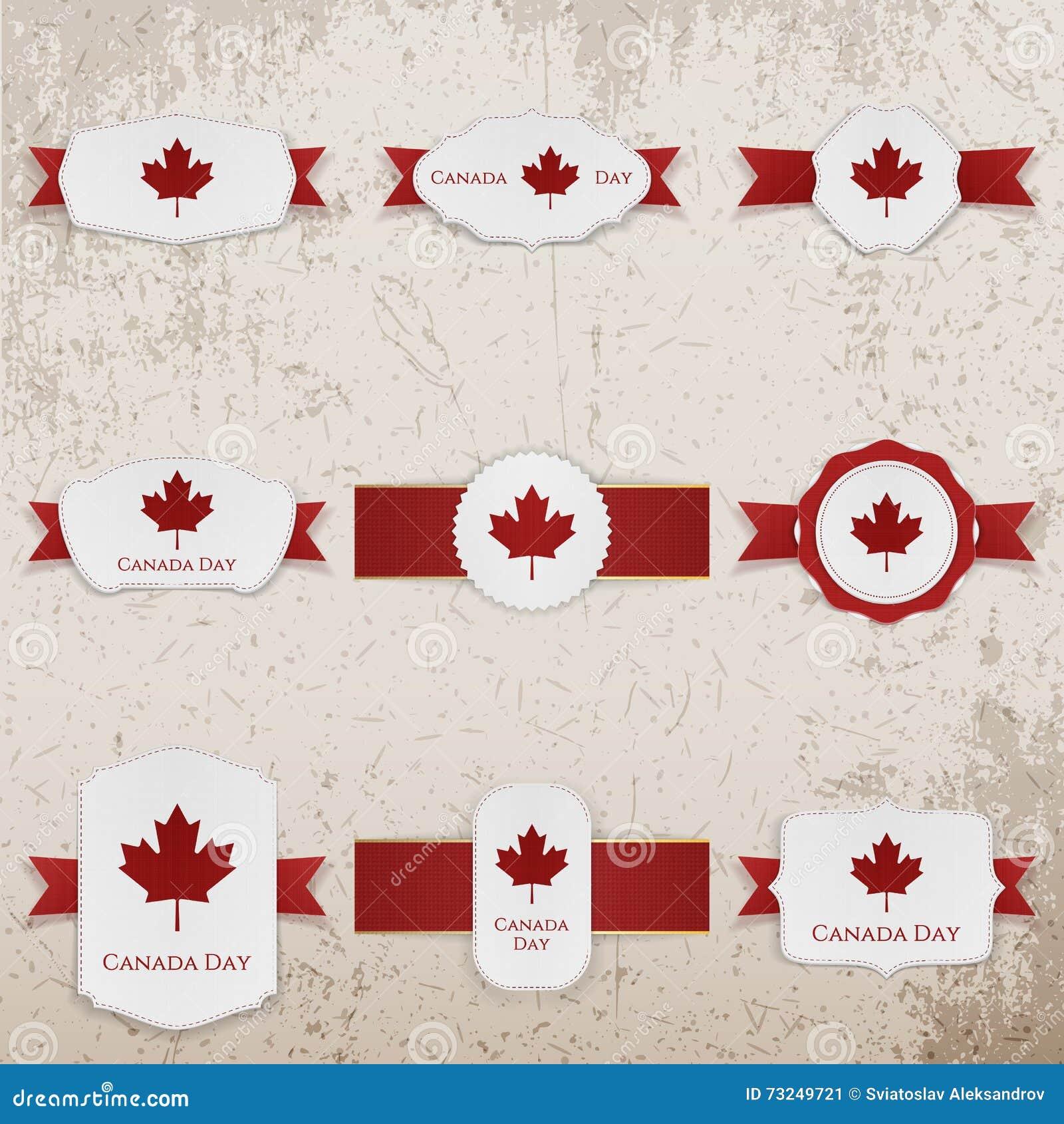Gelukkige de Dagdocument van Canada Banners met groettekst