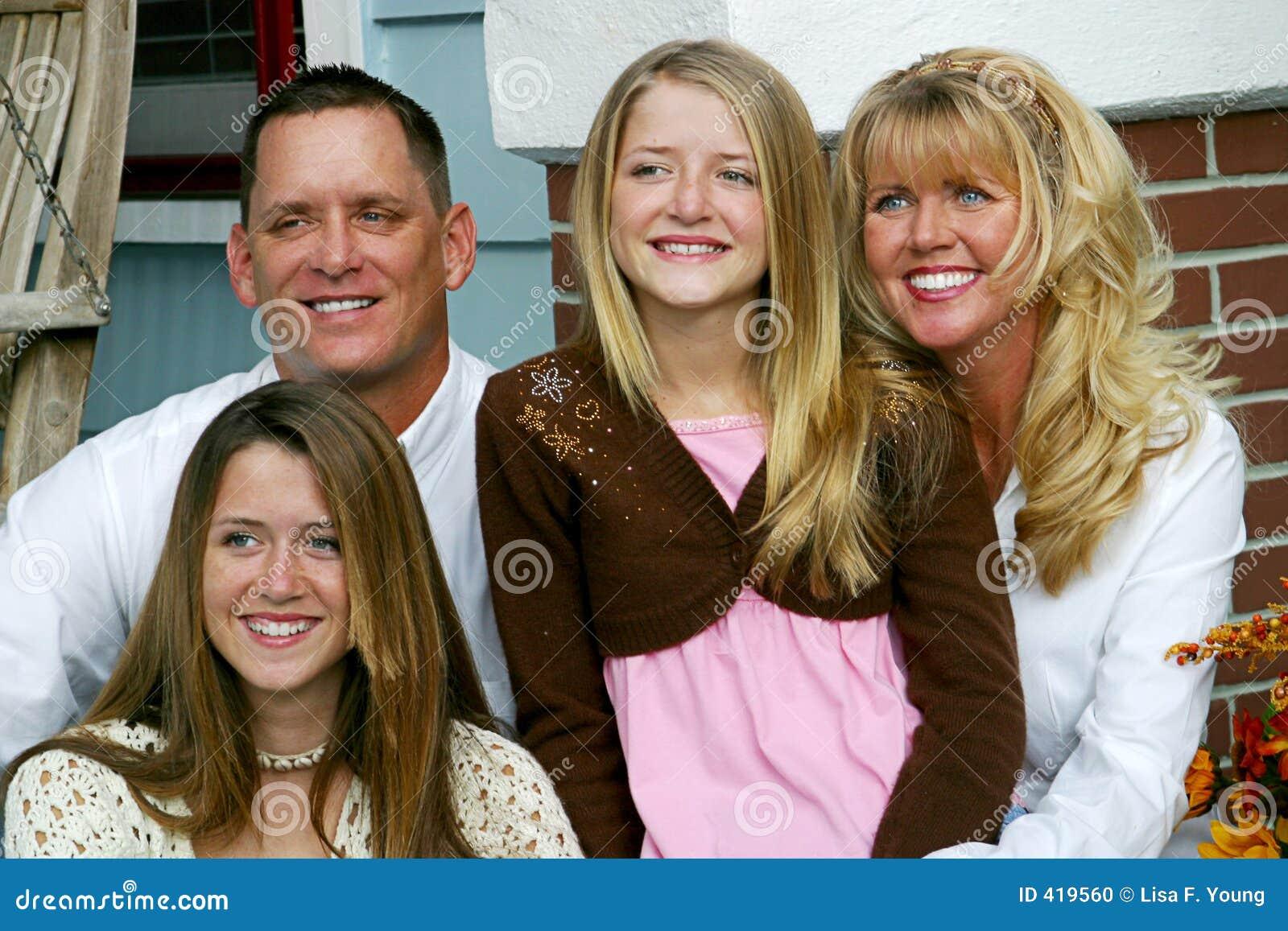 Gelukkige Familie samen