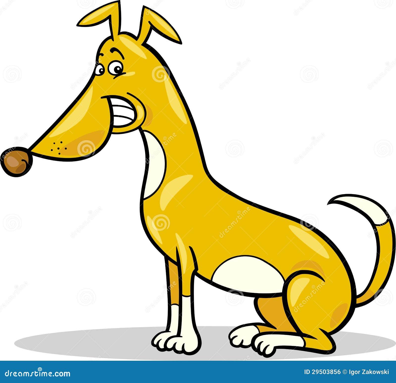 Gelukkige het beeldverhaalillustratie van de zittingshond