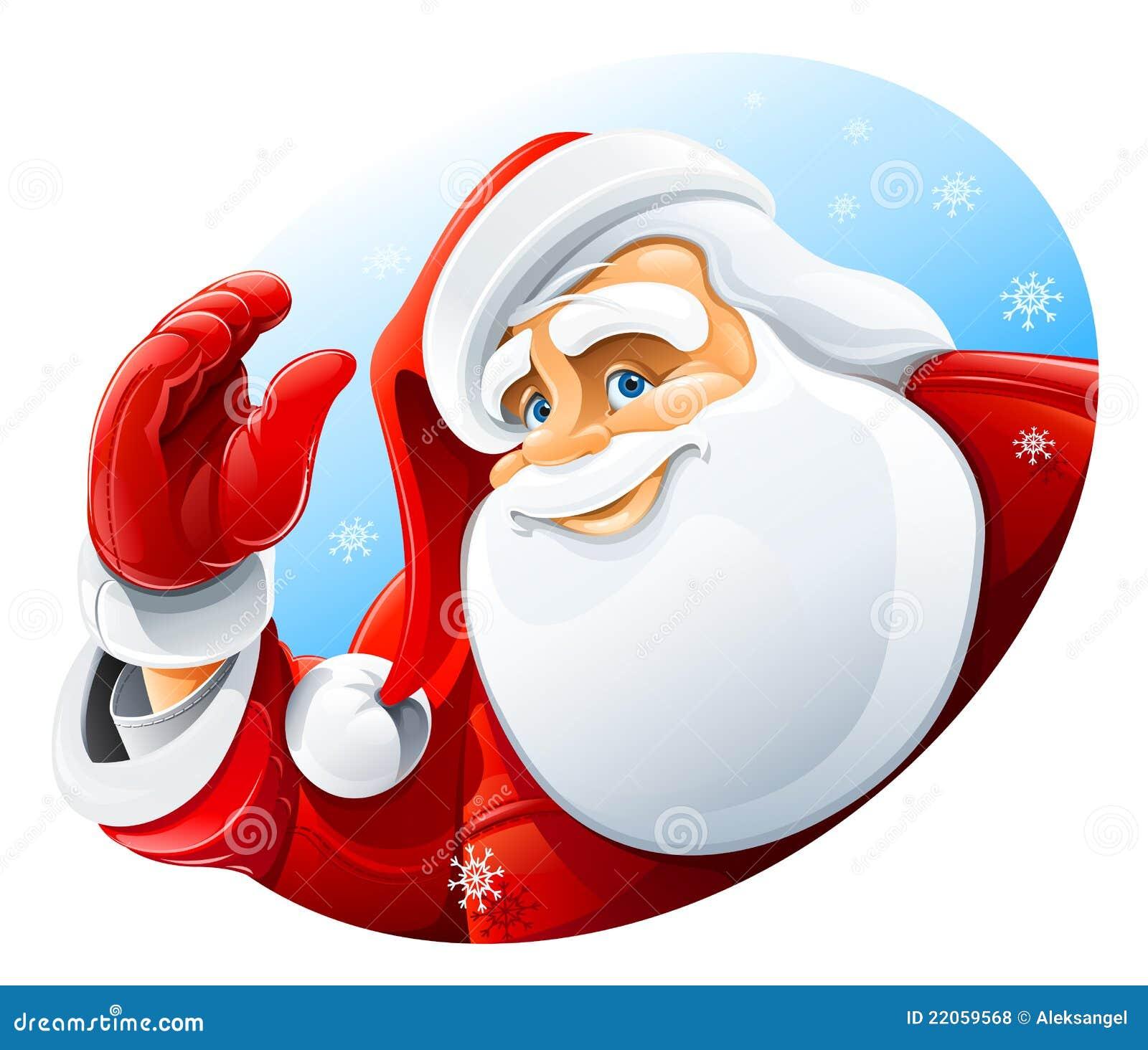 Gelukkige het gezichtsgroet van de Kerstman