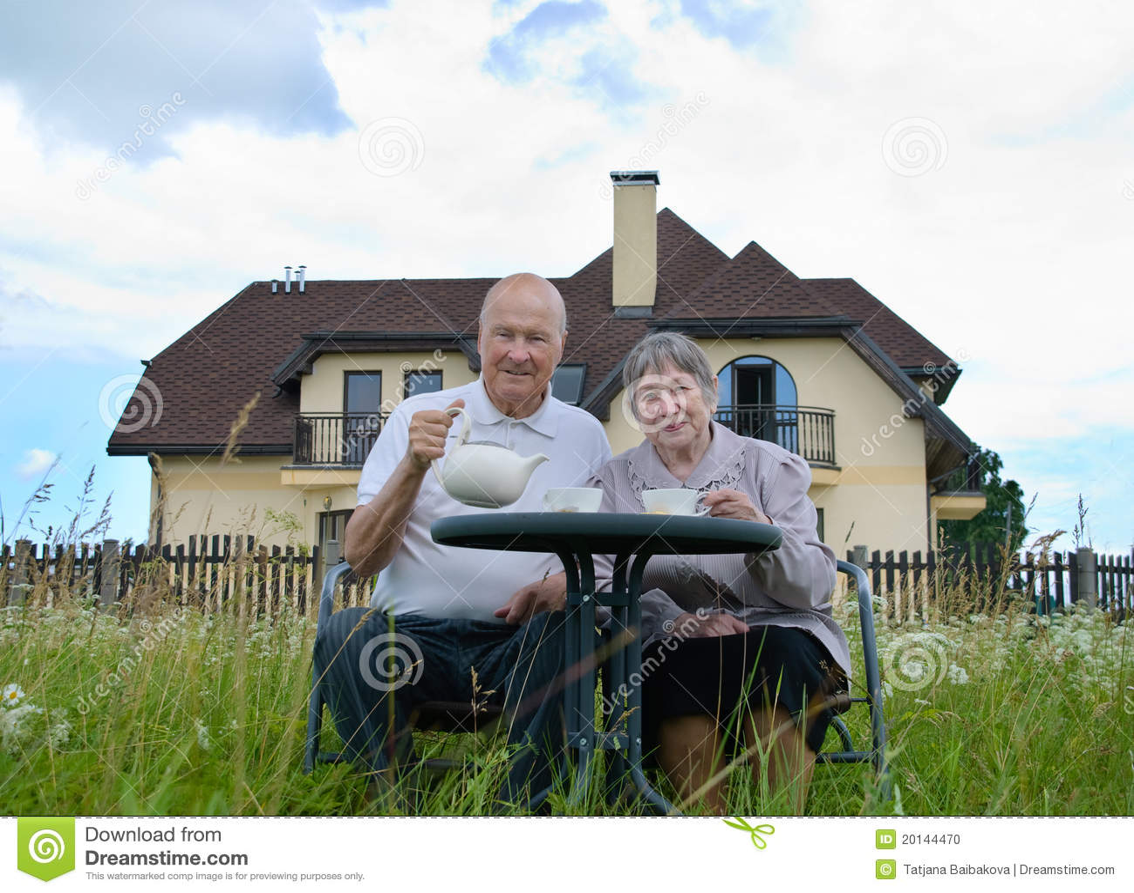 Gelukkige hogere man en vrouw