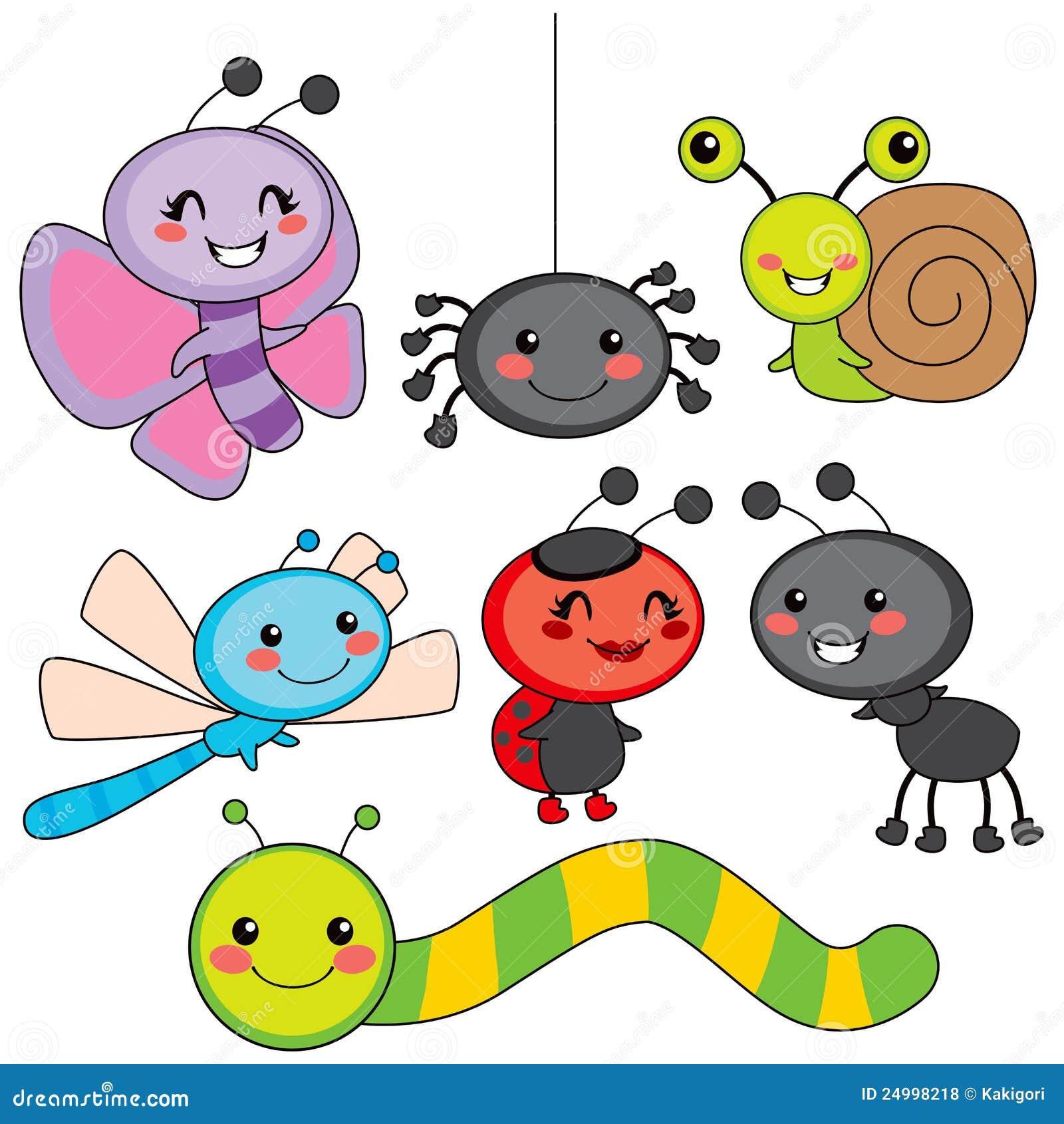 Gelukkige Kleine Insecten