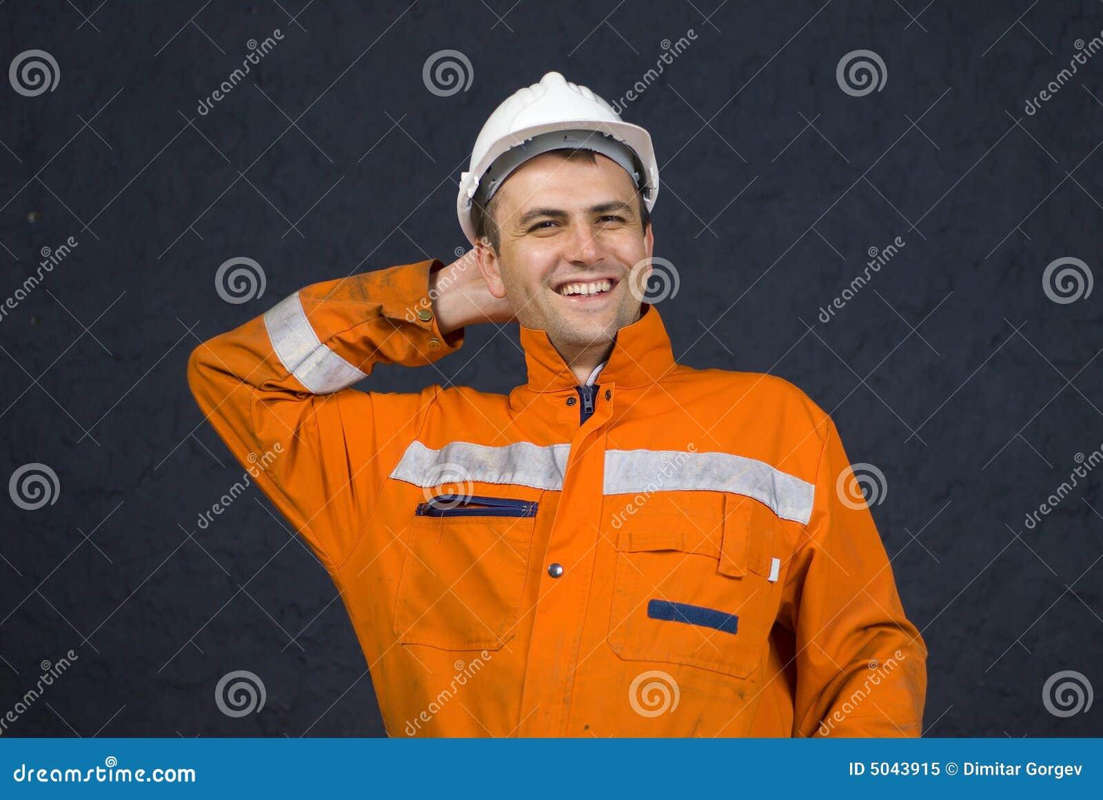 Gelukkige mijnwerker