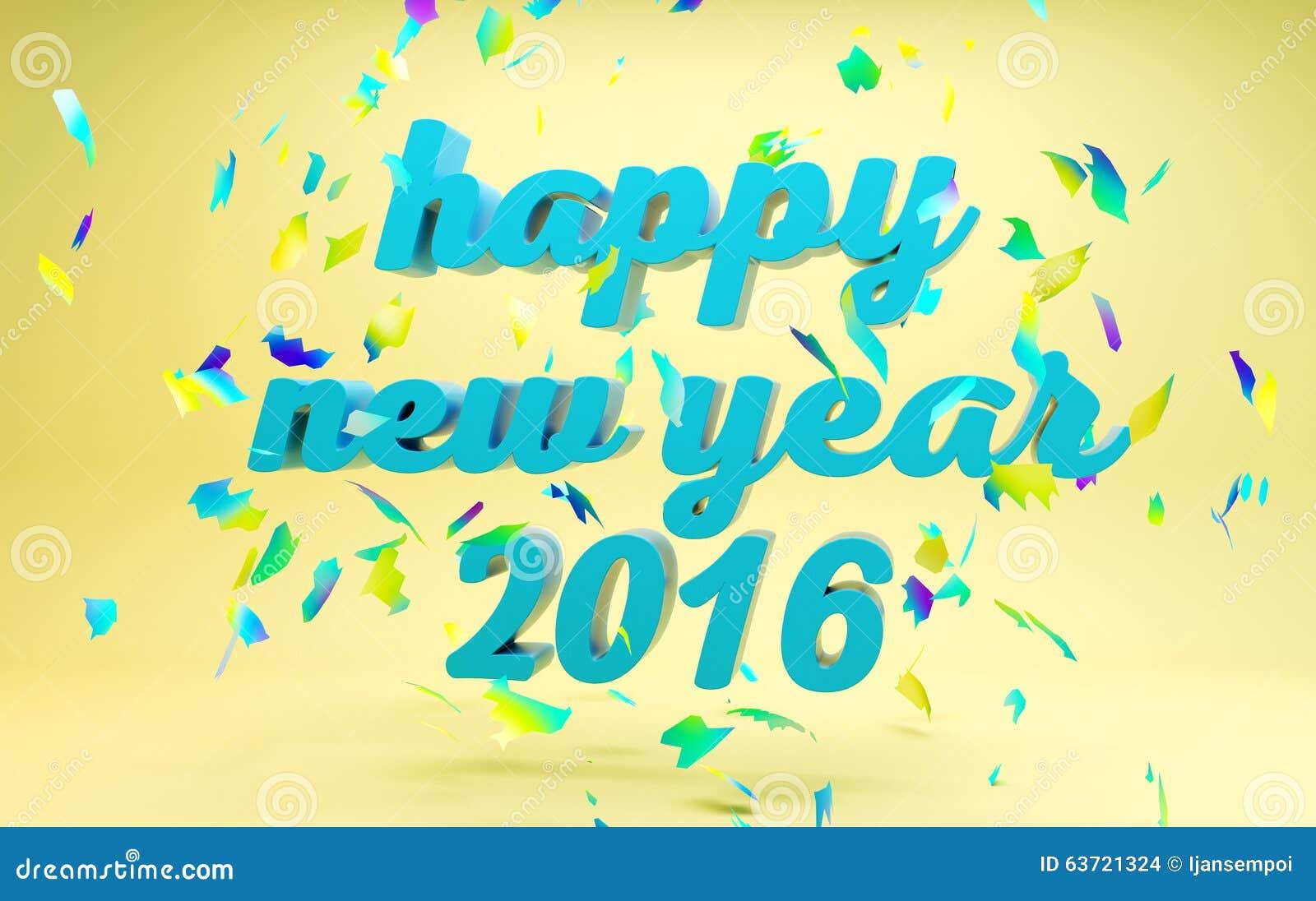 Gelukkige Nieuwjaar 2016 tekst