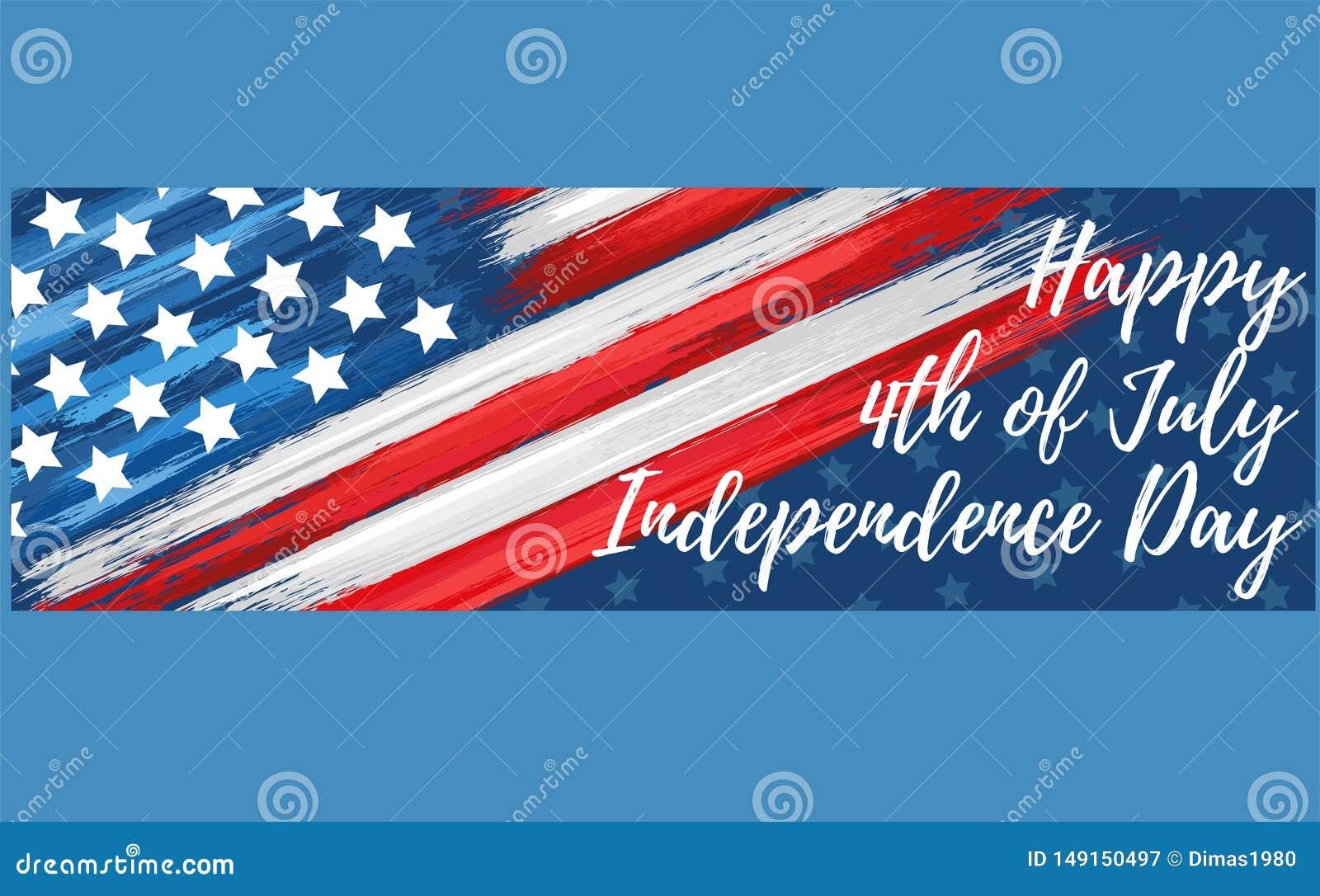 Gelukkige Onafhankelijkheid Dag vierde van Juli