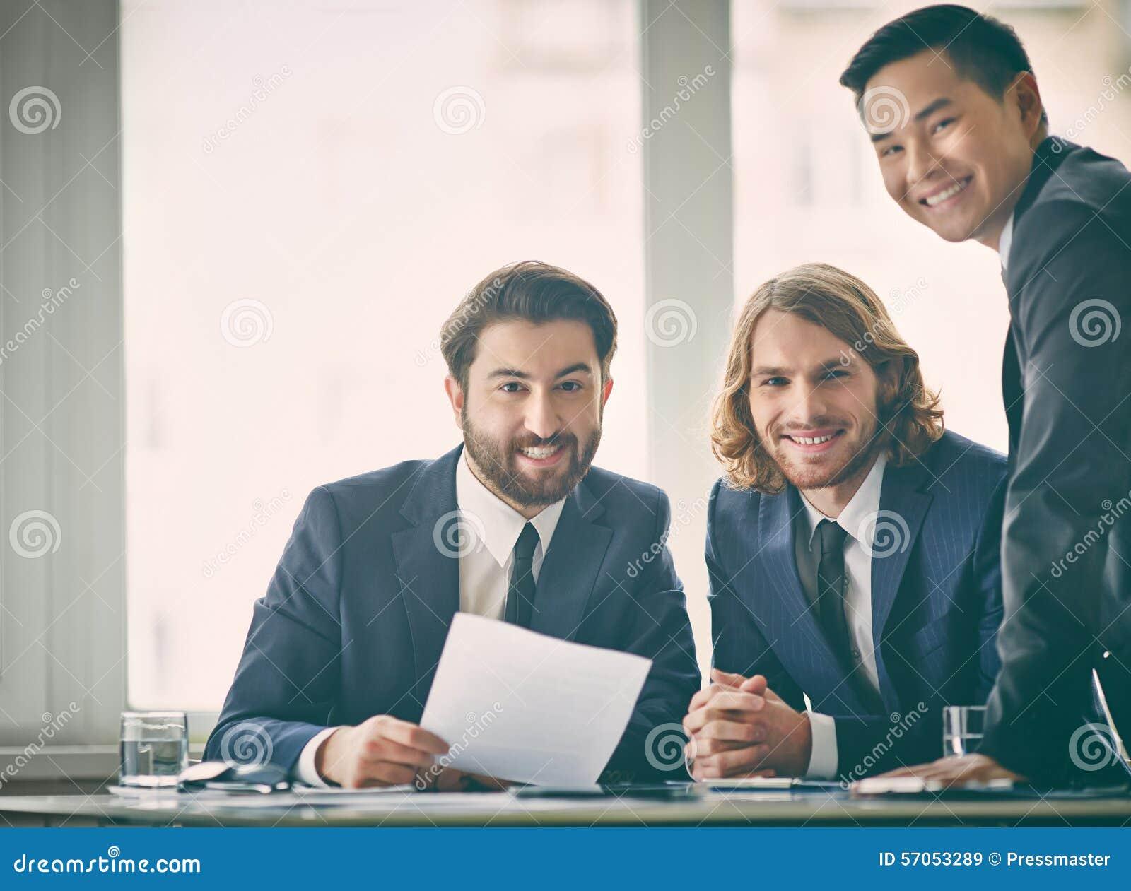 Gelukkige ondernemers