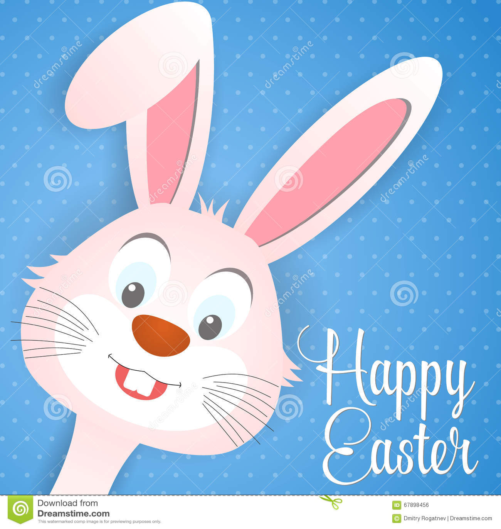 Gelukkige Pasen-kaart met konijnoren