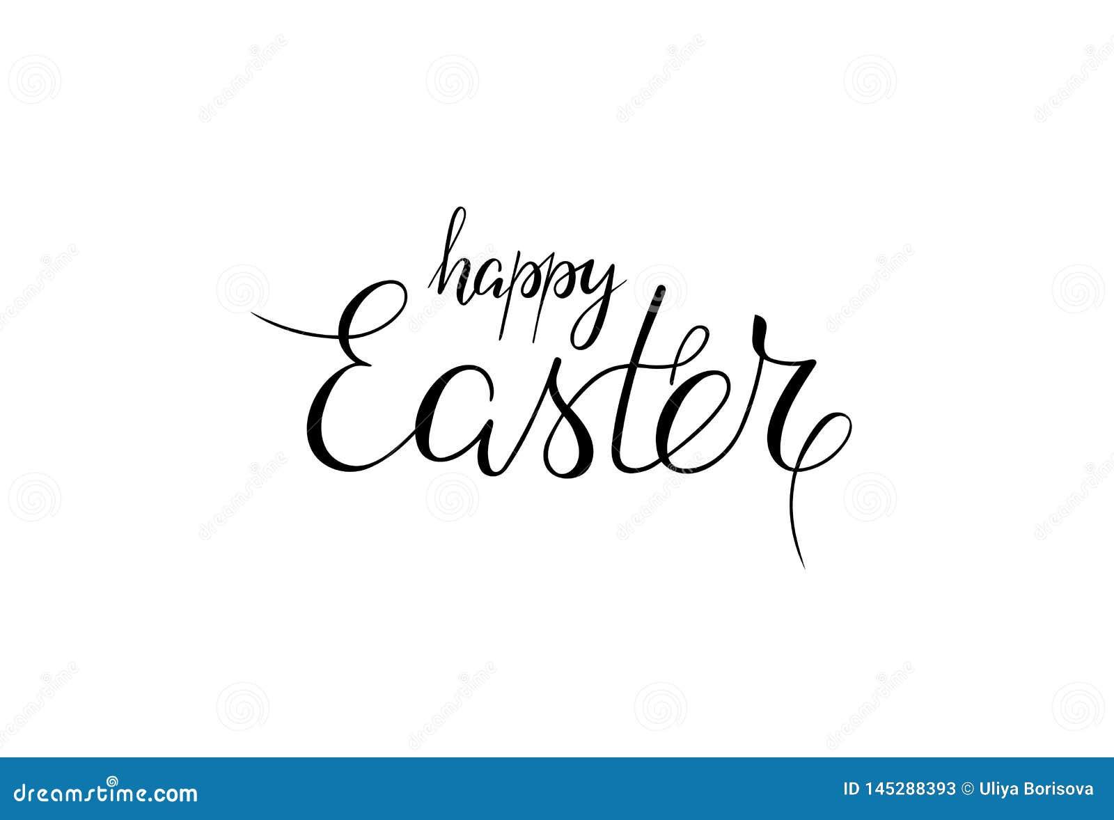Gelukkige Pasen Met de hand geschreven uitdrukking