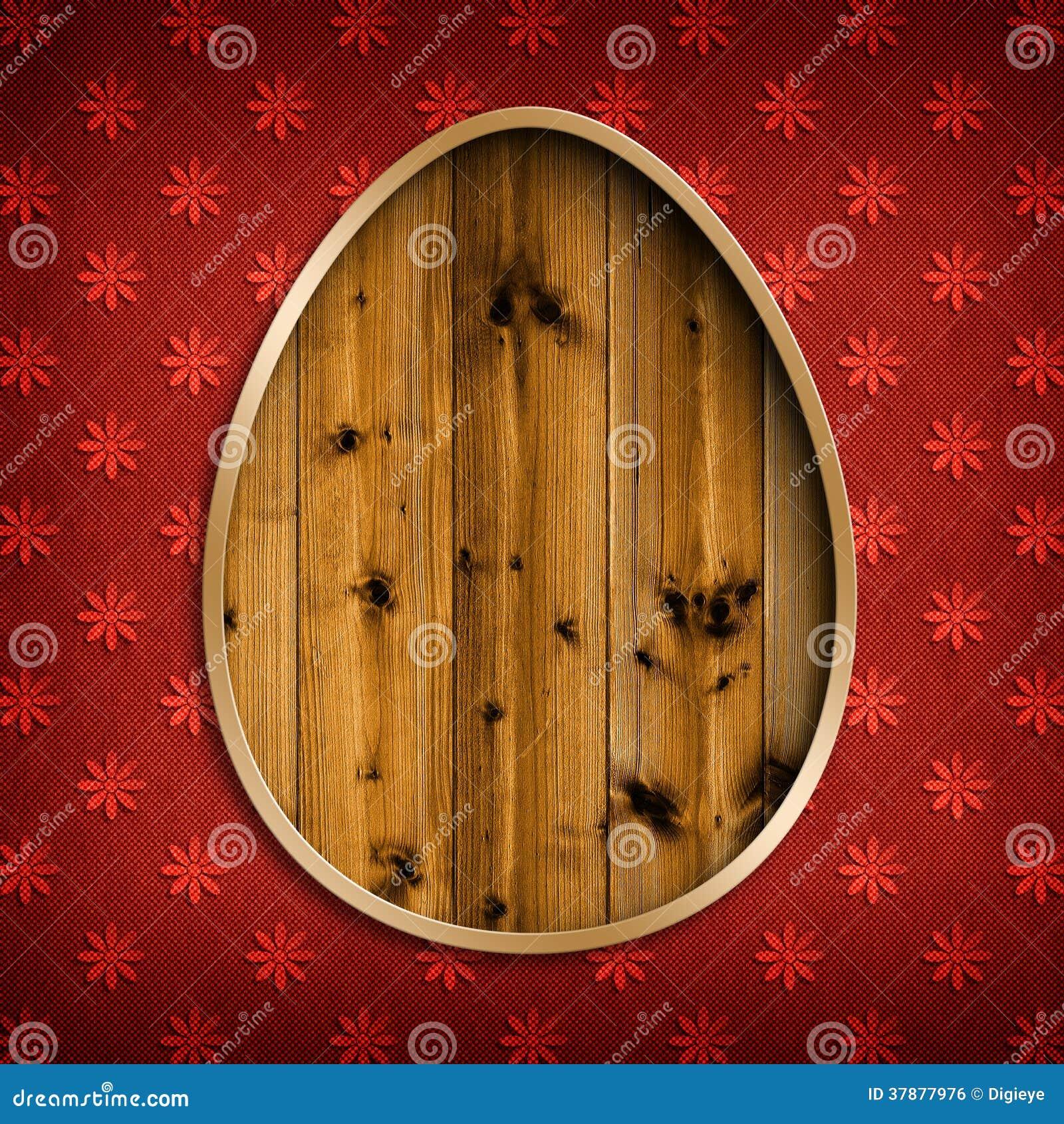 Gelukkige Pasen - vorm van ei op gevormde achtergrond