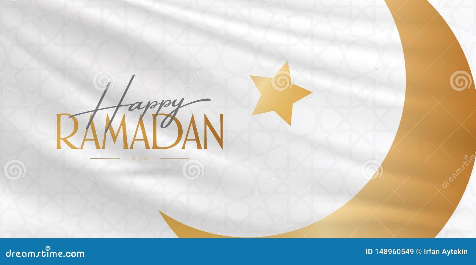 Gelukkige Ramadan Heilige maand van moslim communautaire Ramazan Aanplakbord, Affiche, Sociale Media, het malplaatje van de Groet