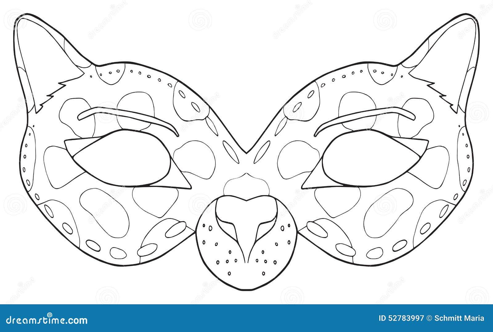 gelukkige vakantie masker zwarte panter stock