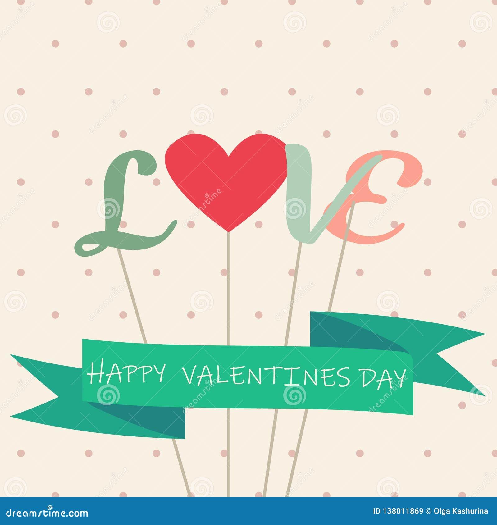 Gelukkige valentijnskaartendag en het wieden van kaarten - Vector - Vector