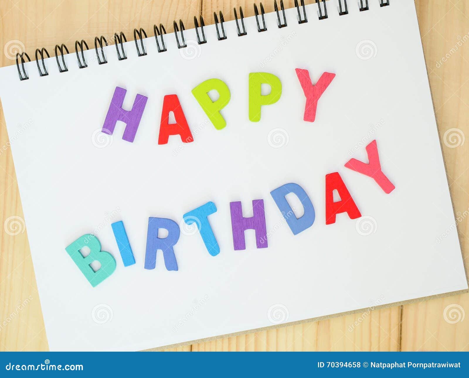 Gelukkige Verjaardag 3 Stock Foto Afbeelding Bestaande Uit Nota