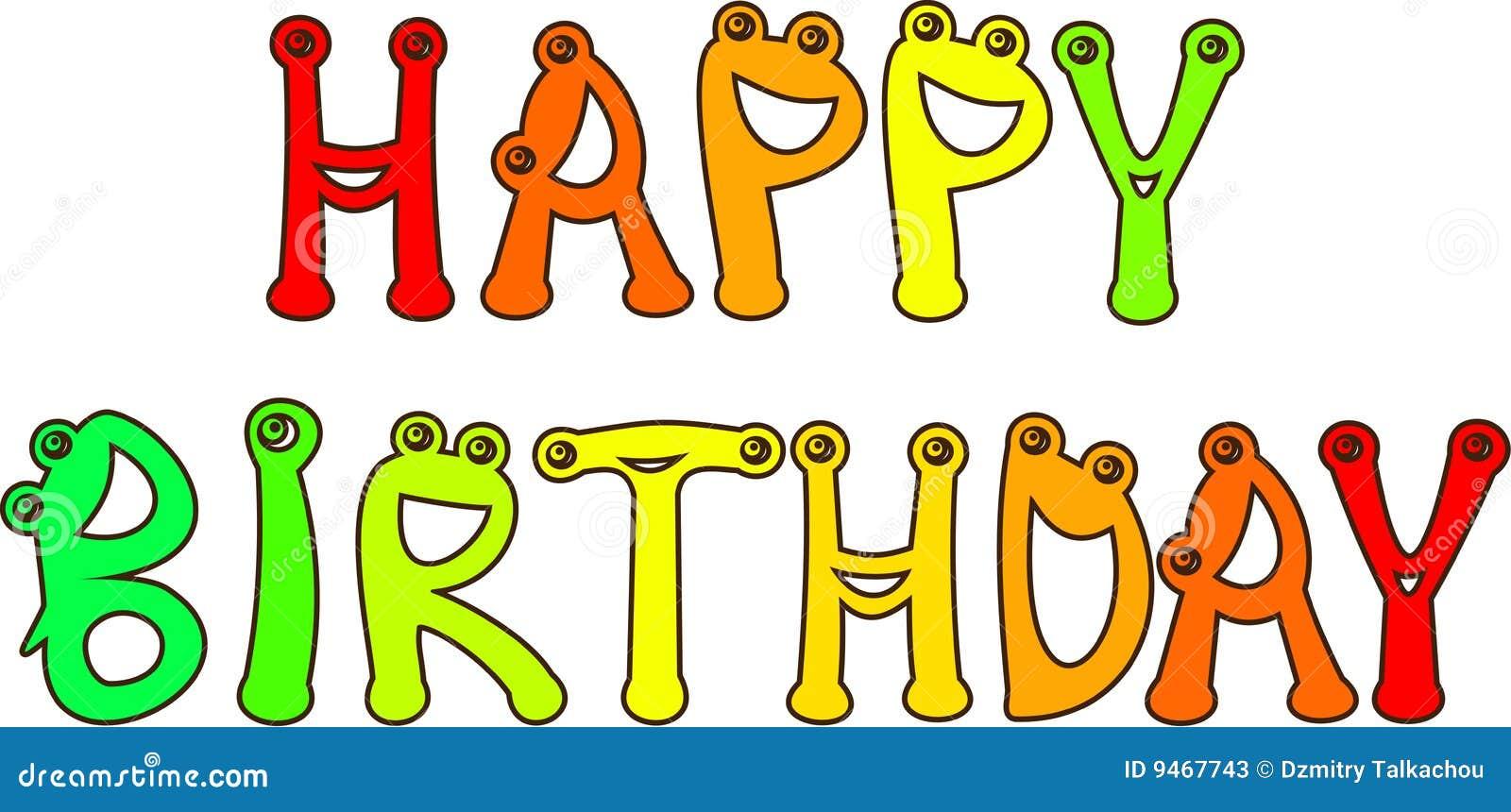 Gelukkige Verjaardag Vector Illustratie Illustratie Bestaande Uit