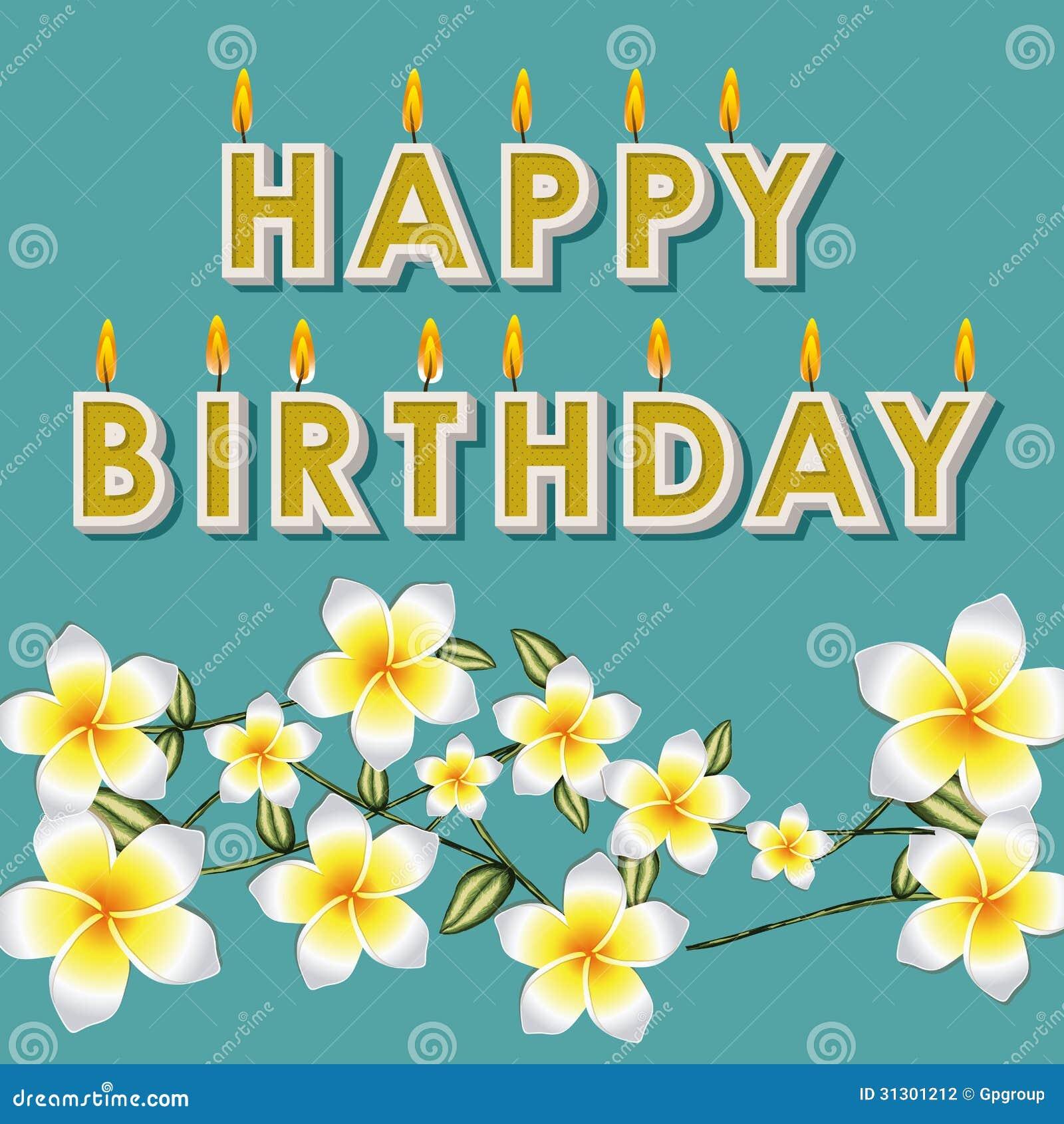 Gelukkige Verjaardag Bloemen Stock Fotografie   Afbeelding  31301212