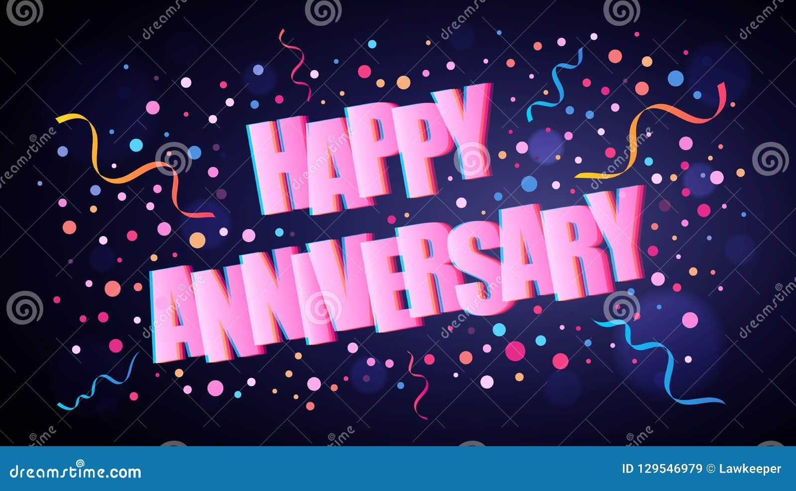 Gelukkige Verjaardag die het feestelijke van letters voorzien overlappen met kleurrijke ronde confettien