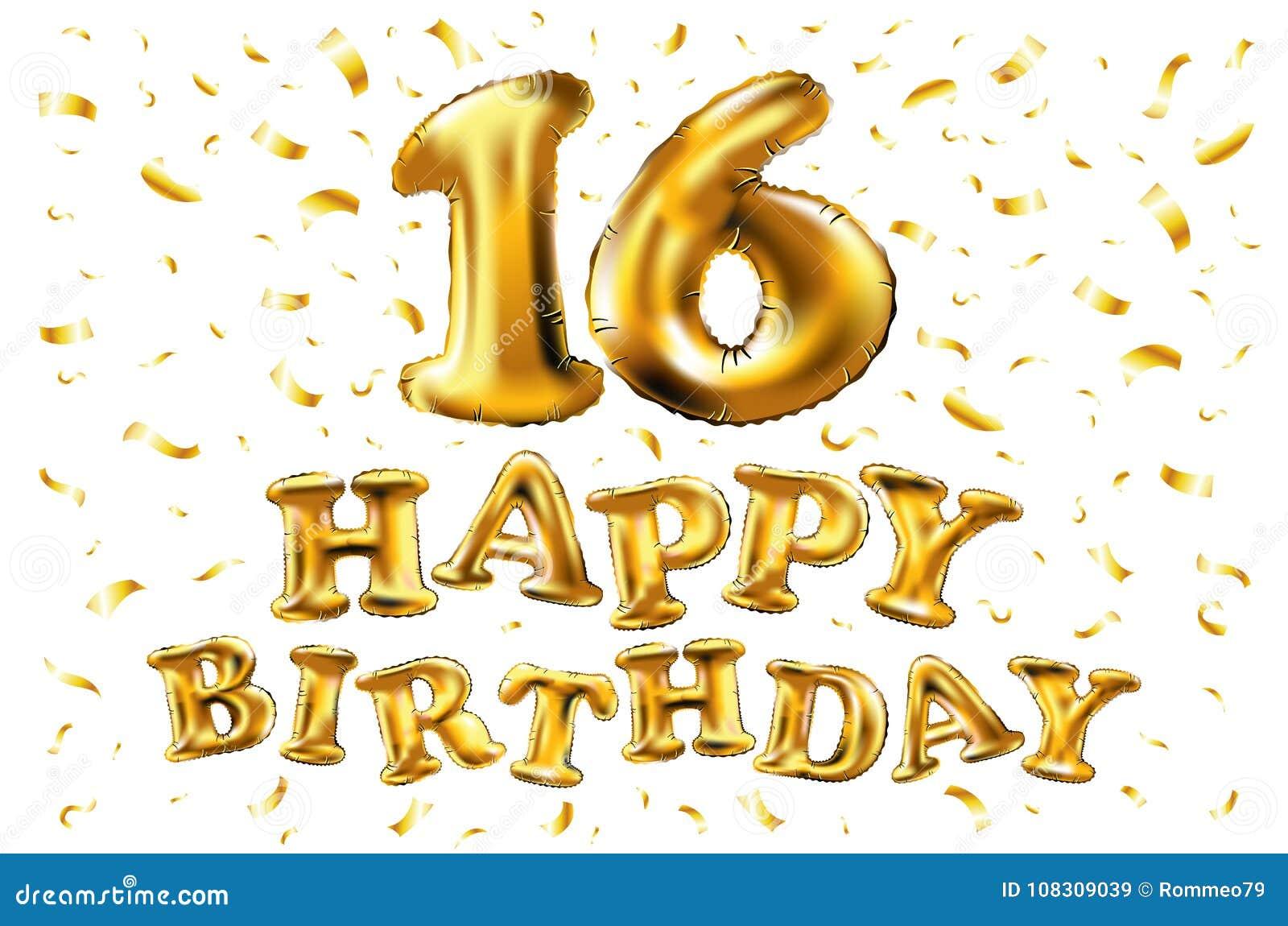 Gelukkige Verjaardag 16 Jaar Van De Verjaardagsvreugde De Vierings