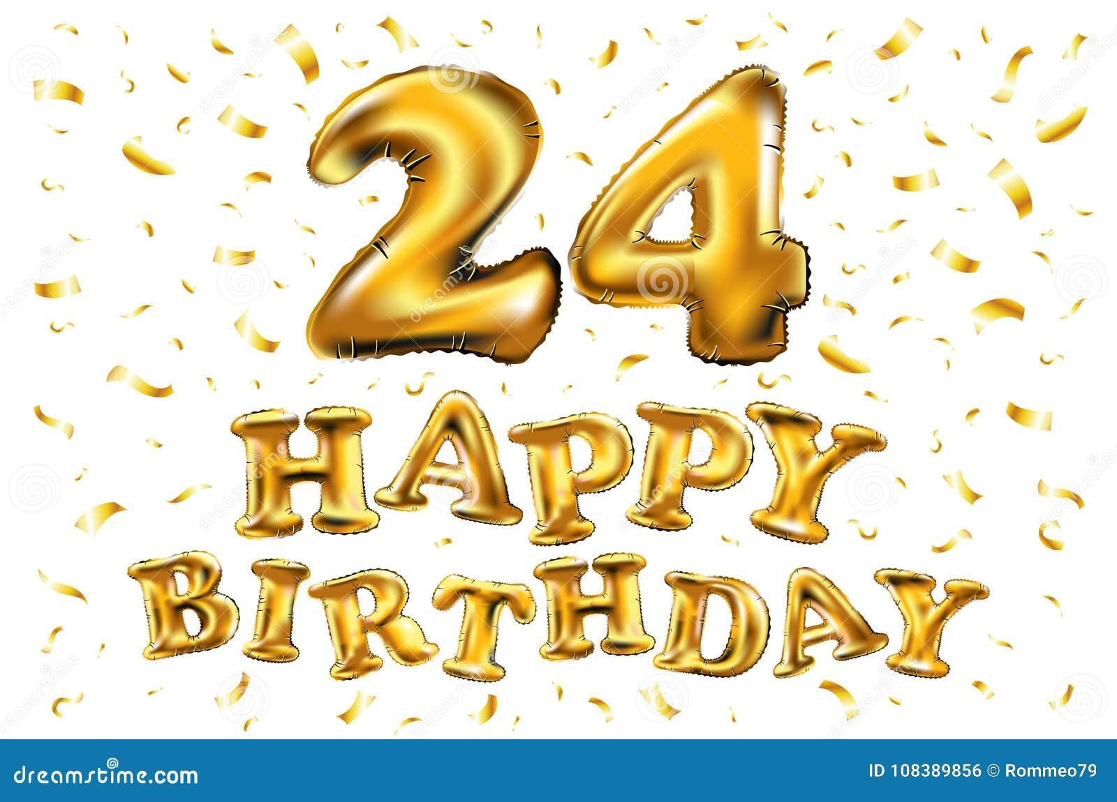 Gelukkige Verjaardag 24 Jaar Van De Verjaardagsvreugde De Vierings