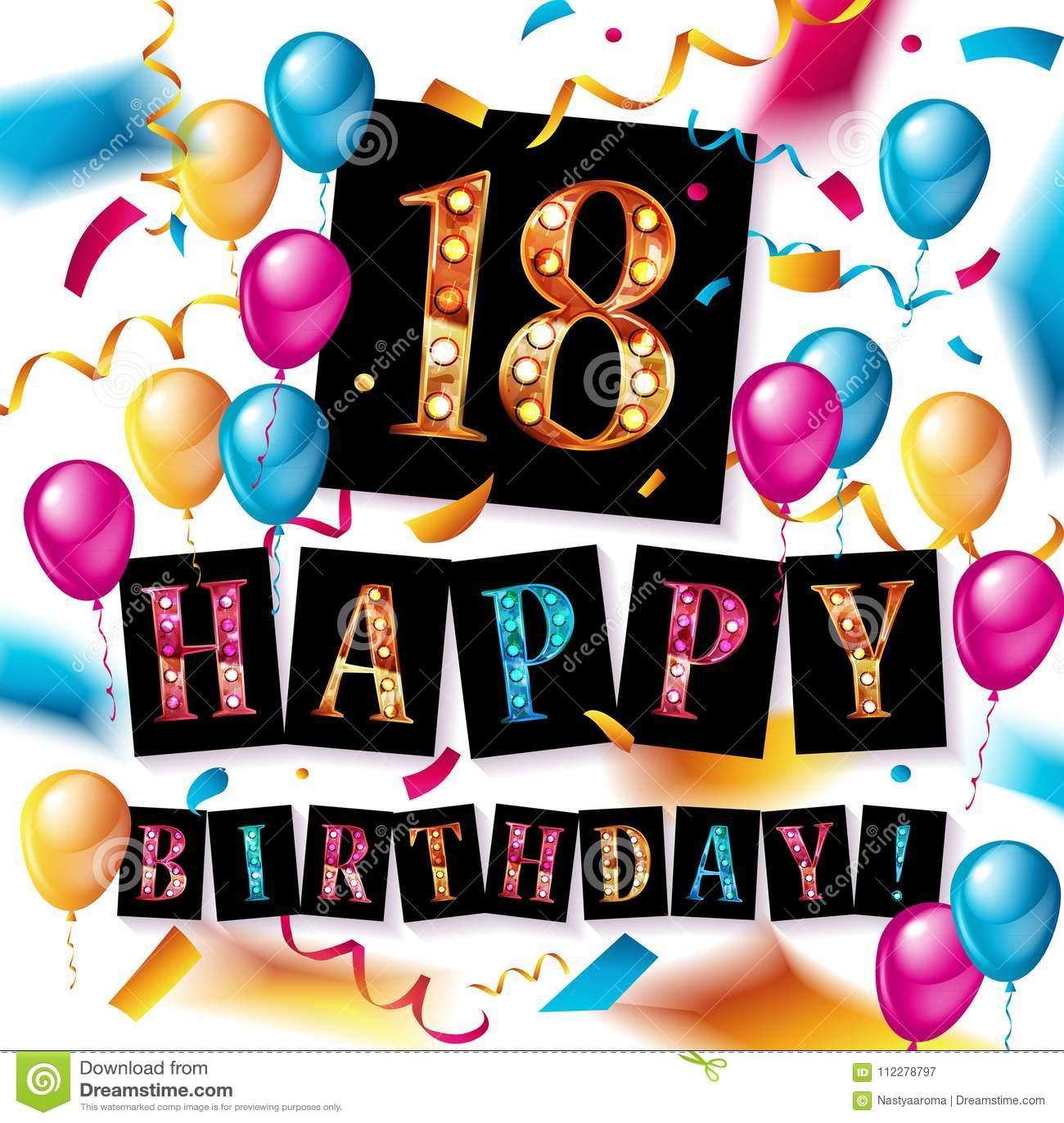 Verjaardag 18 Jarige.Verjaardagskaart 18 Jaar Wenskaart 2019