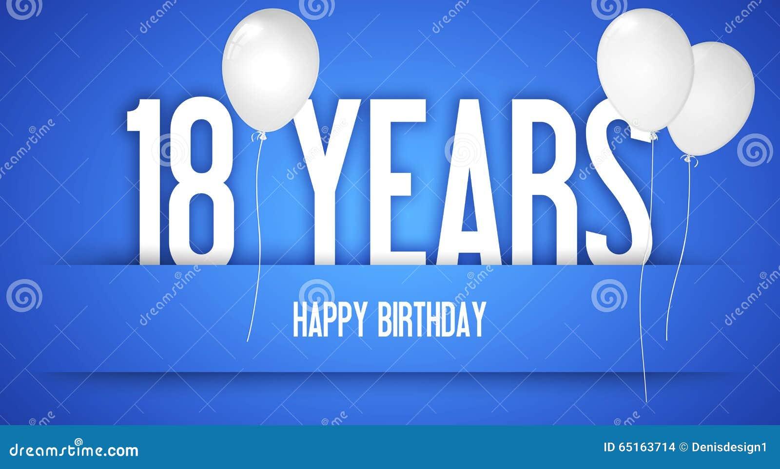 Verwonderlijk Gelukkige Verjaardagskaart - Jongen Met Witte Ballons - 18 Jaar AN-77