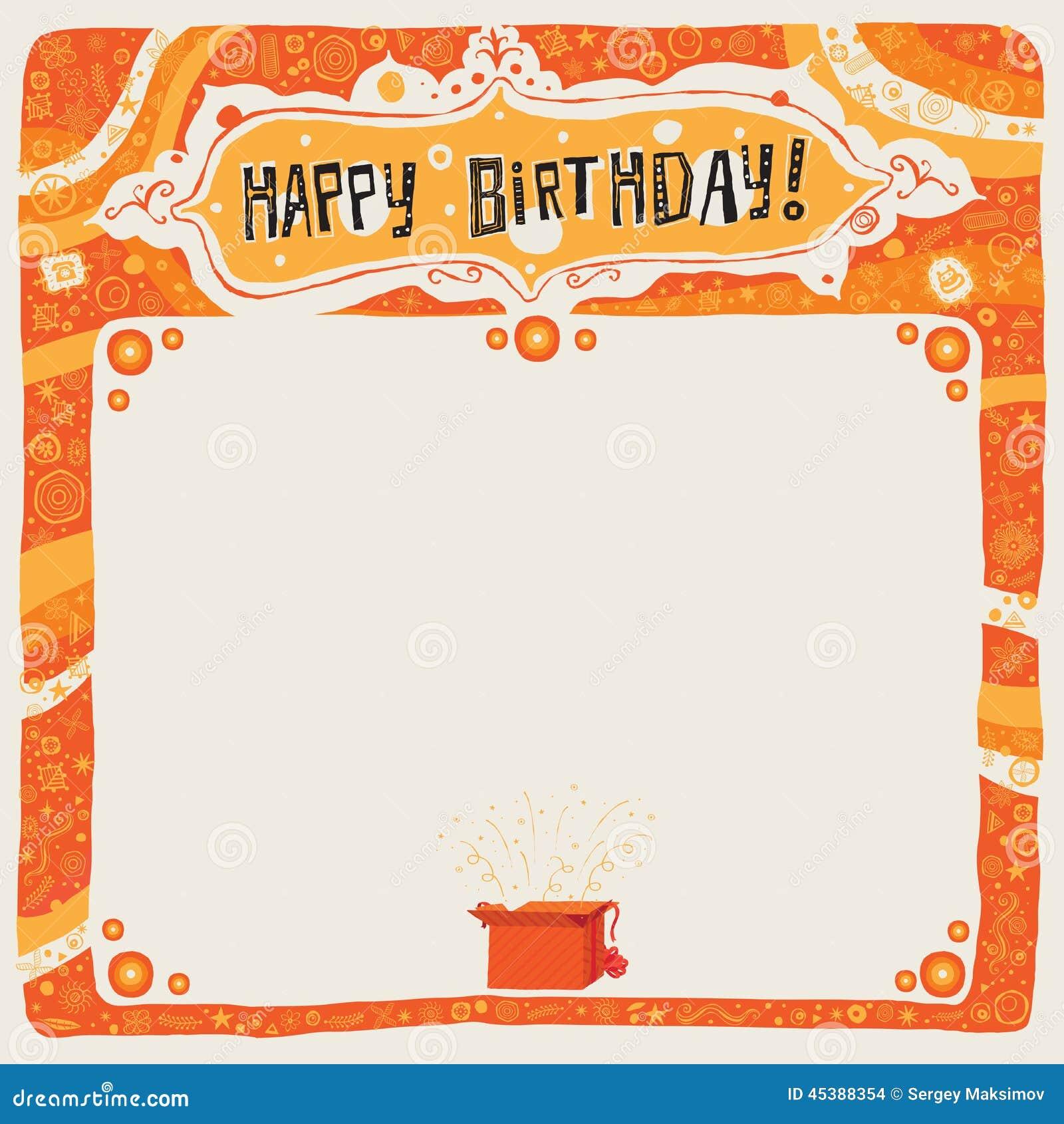 Gelukkige Verjaardagsprentbriefkaar Affiche Achtergrond