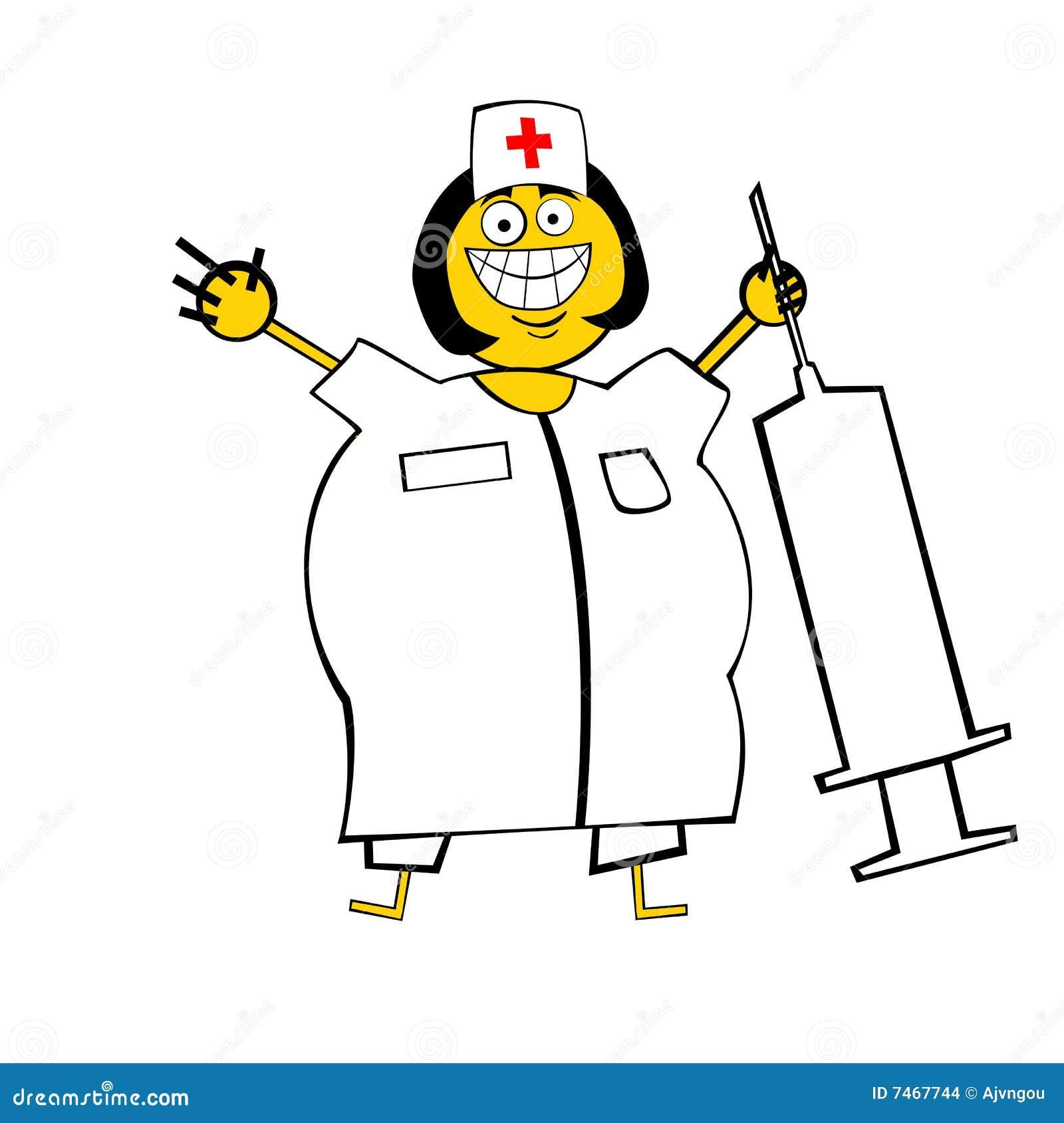 Gelukkige Verpleegster