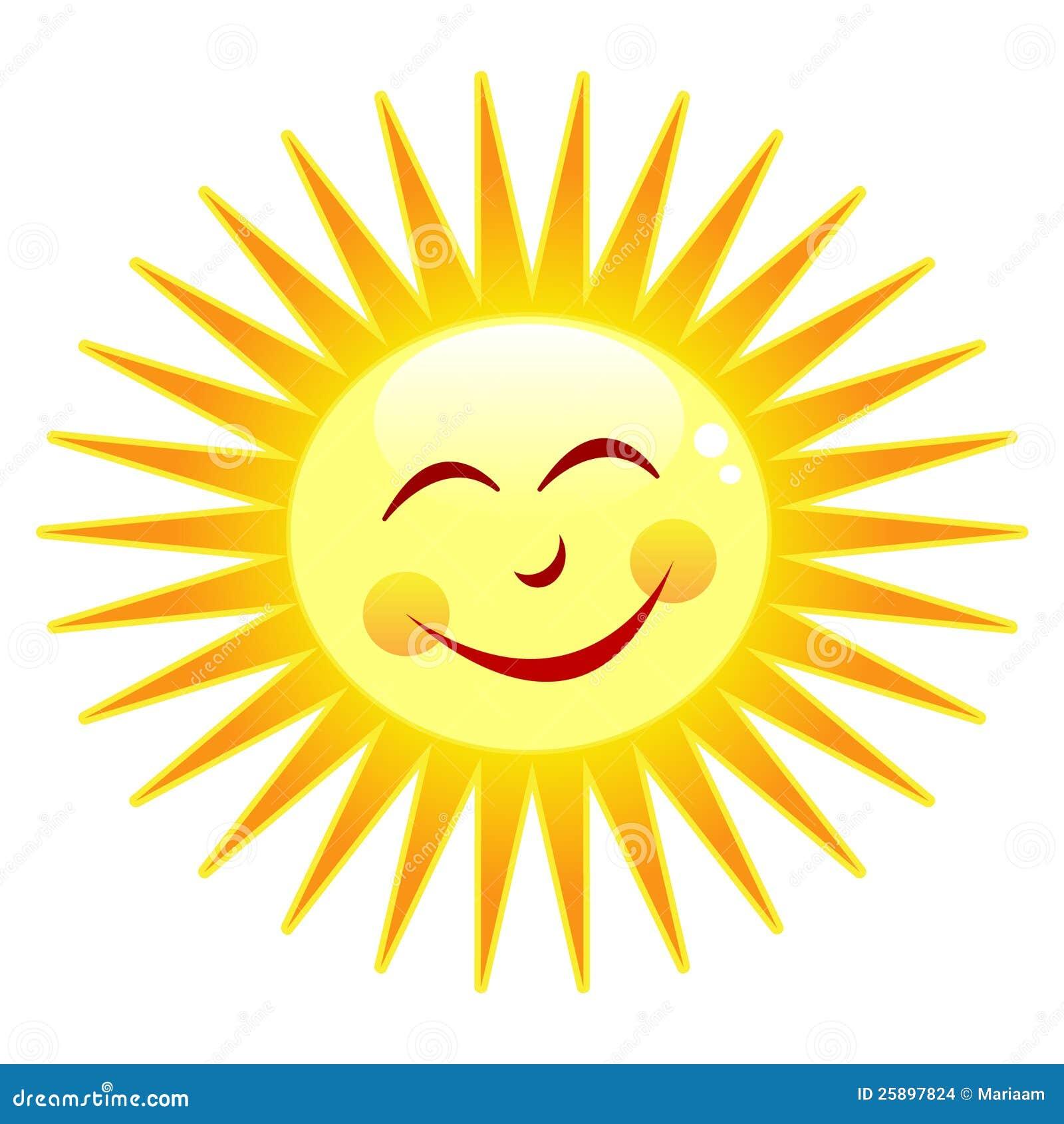 Gelukkige zon