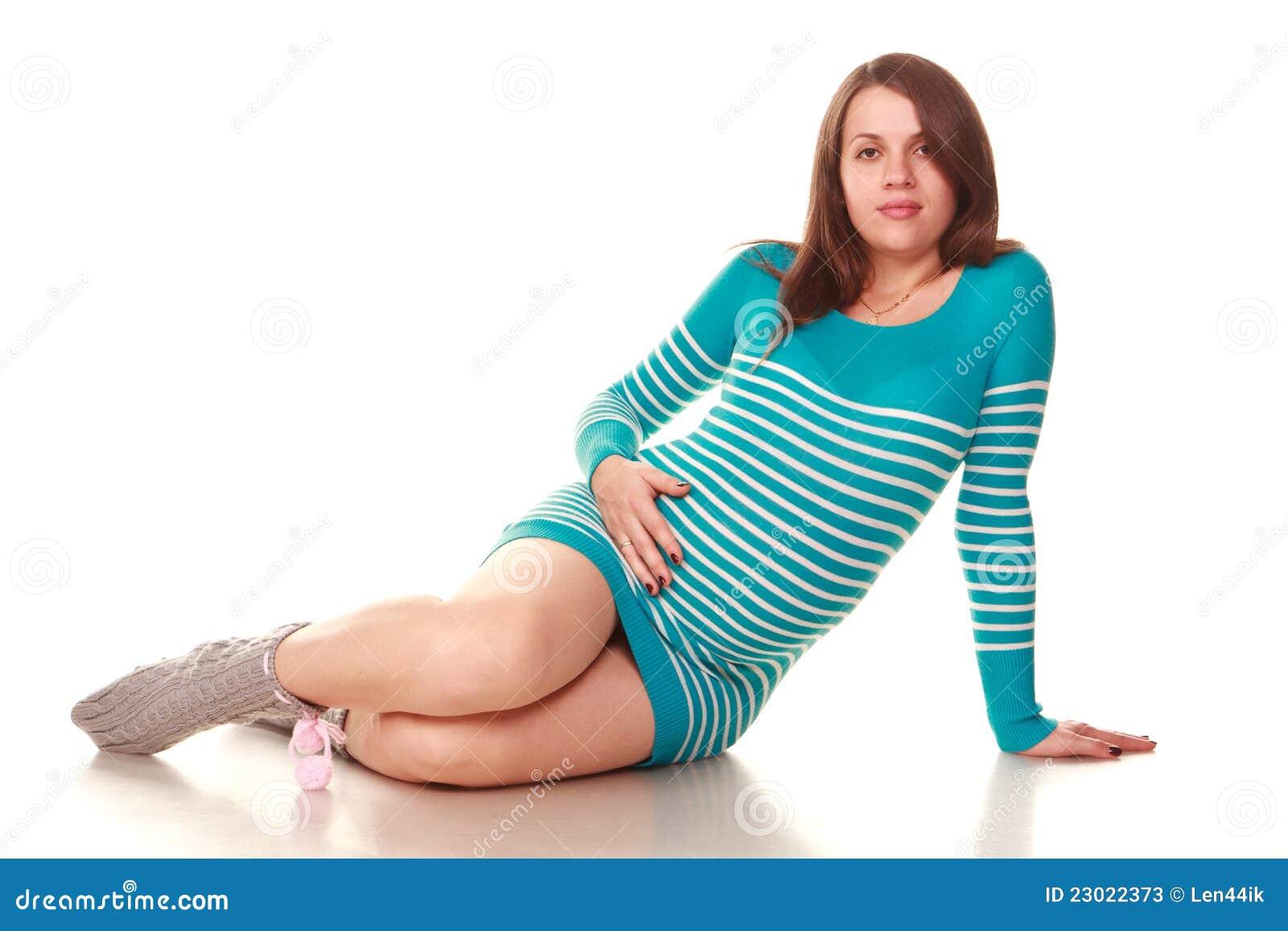 Gelukkige zwangere vrouw
