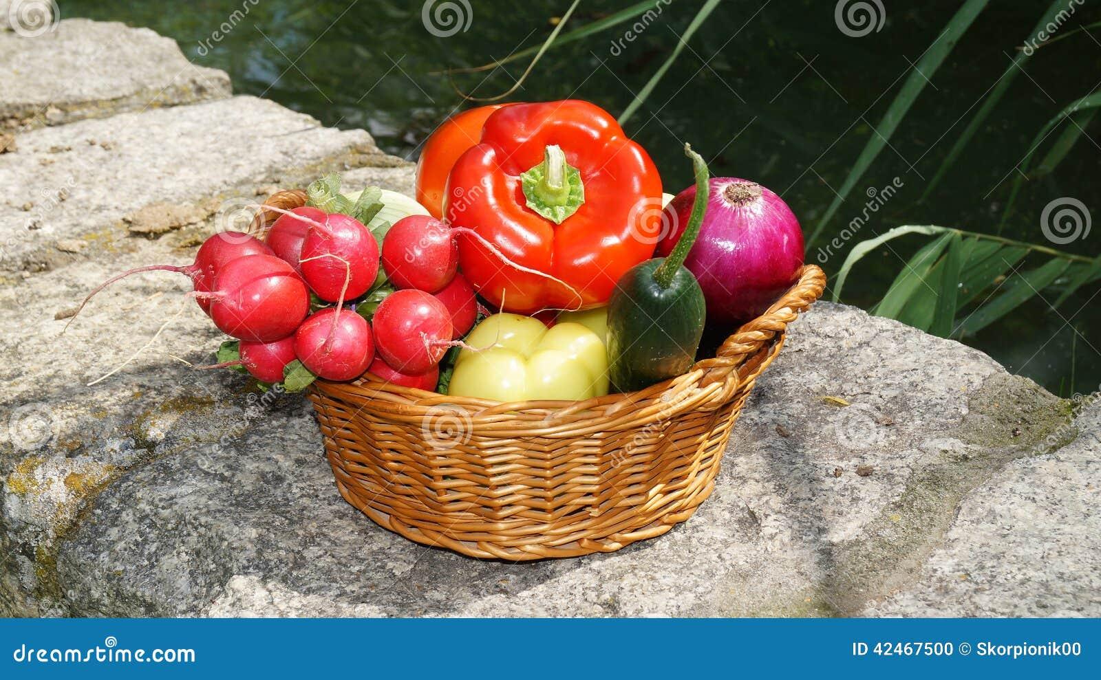 Gemüse im Korb