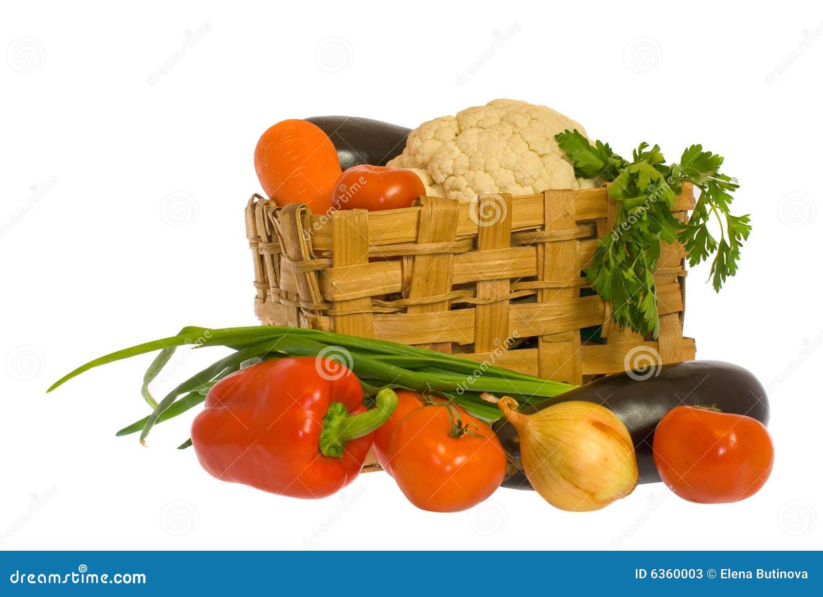 Gemüse und Korb