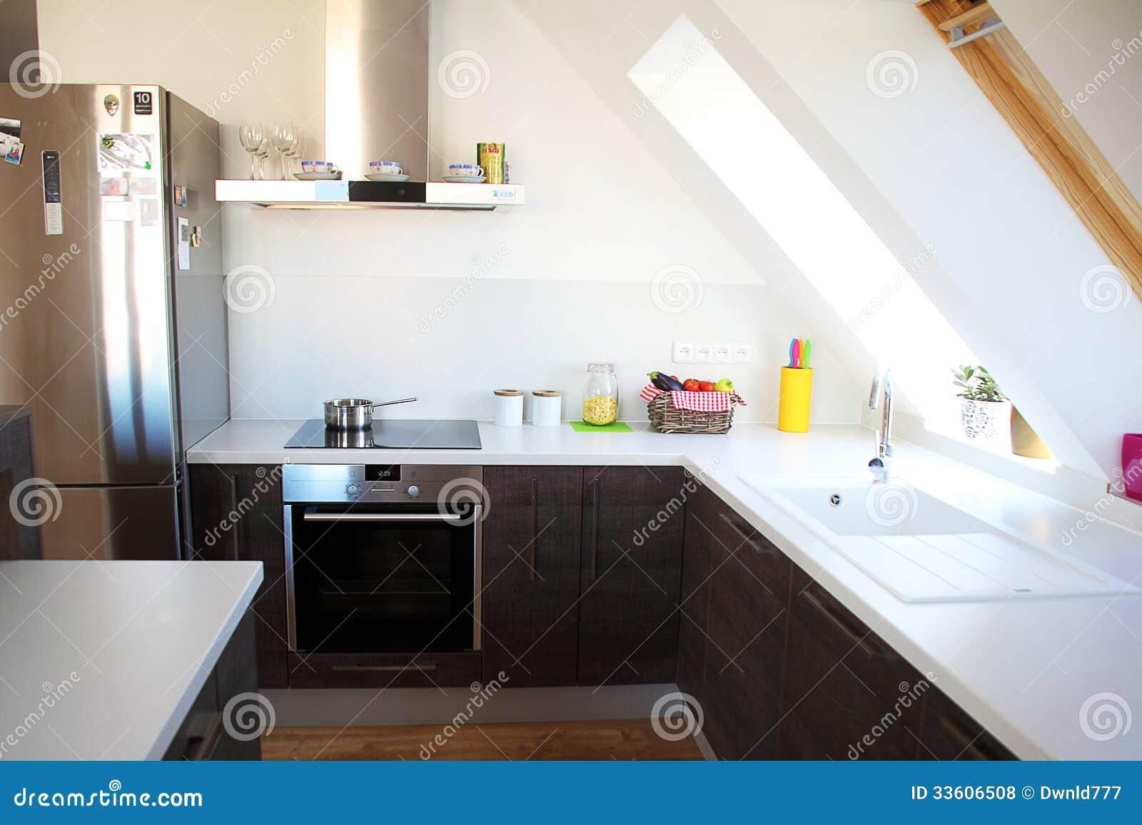 Fantastisch Download Gemütliche Moderne Küche Stockfoto. Bild Von Nahaufnahme   33606508