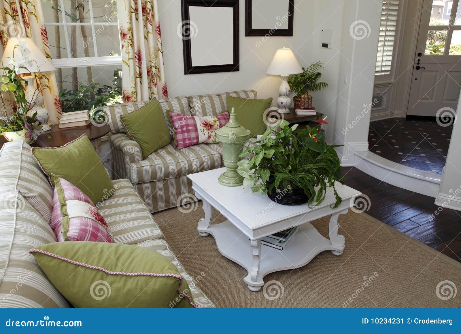 gemütliches wohnzimmer stockbild - bild: 10234231, Wohnzimmer