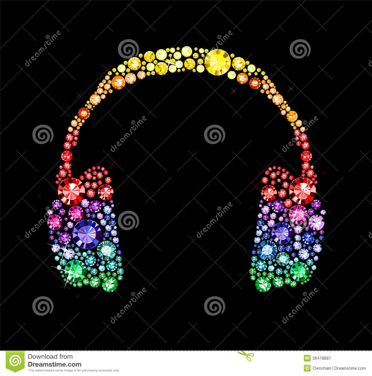 Gem Headphones Royalty Free Stock Photography Image