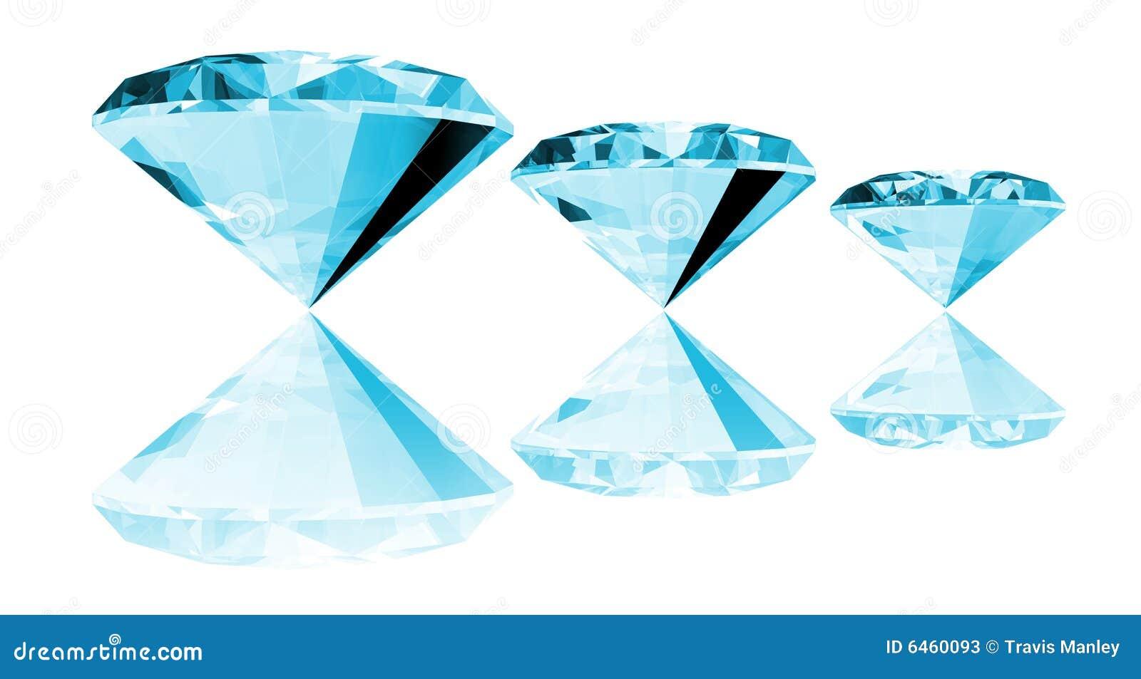 Gema de Aquamarine 3d isolada