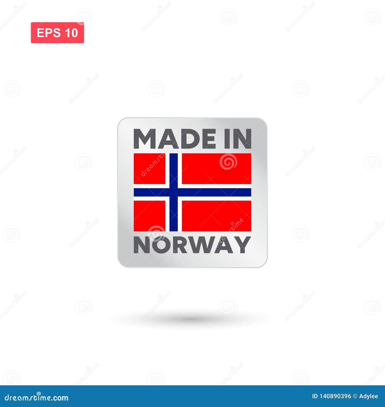 Gemaakt in de vector van Noorwegen