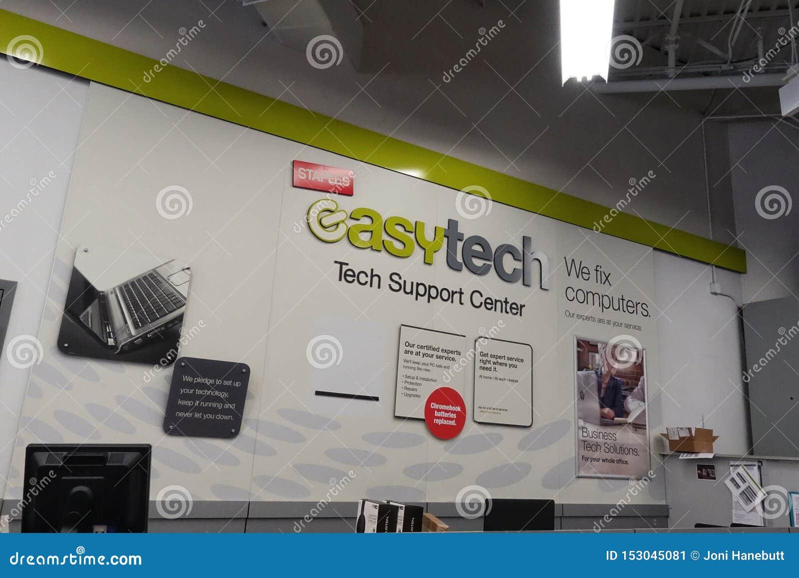 Gemakkelijke Technologie-afdeling in Staples