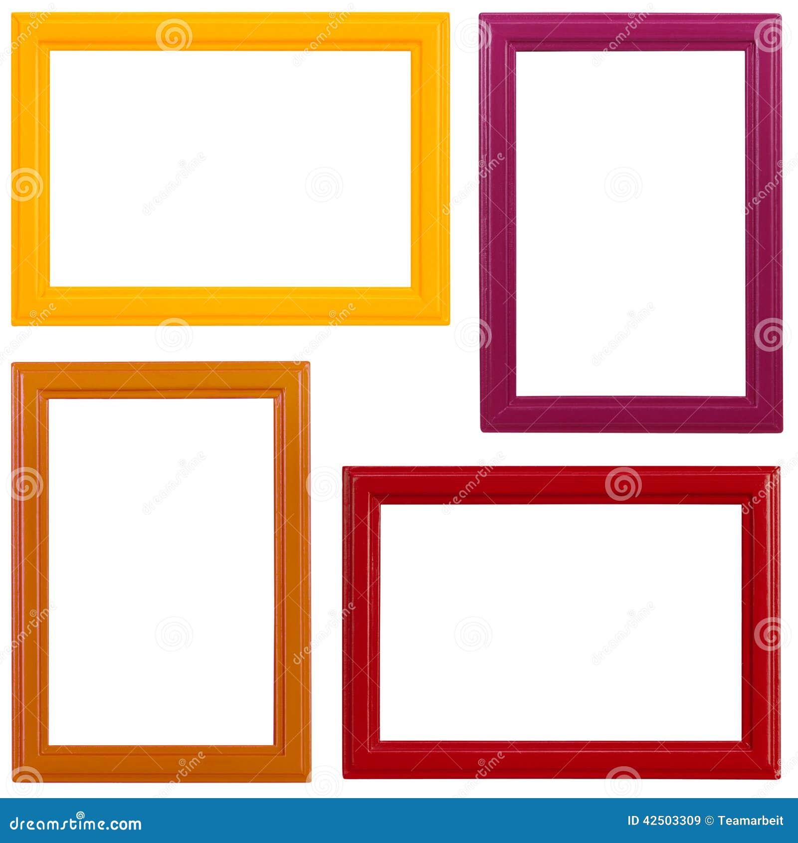 Gemalte Bilderrahmen stockbild. Bild von abbildung, vier - 42503309