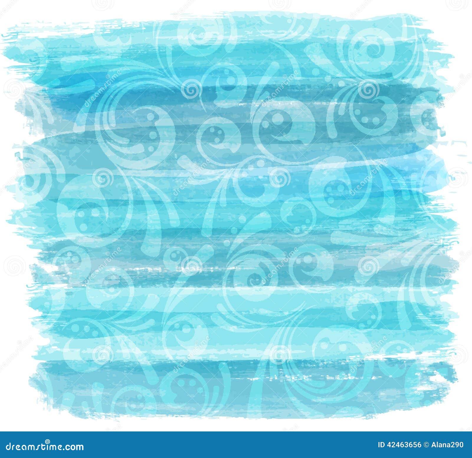 Gemalte Linien nachgemachter Hintergrund mit Blumen
