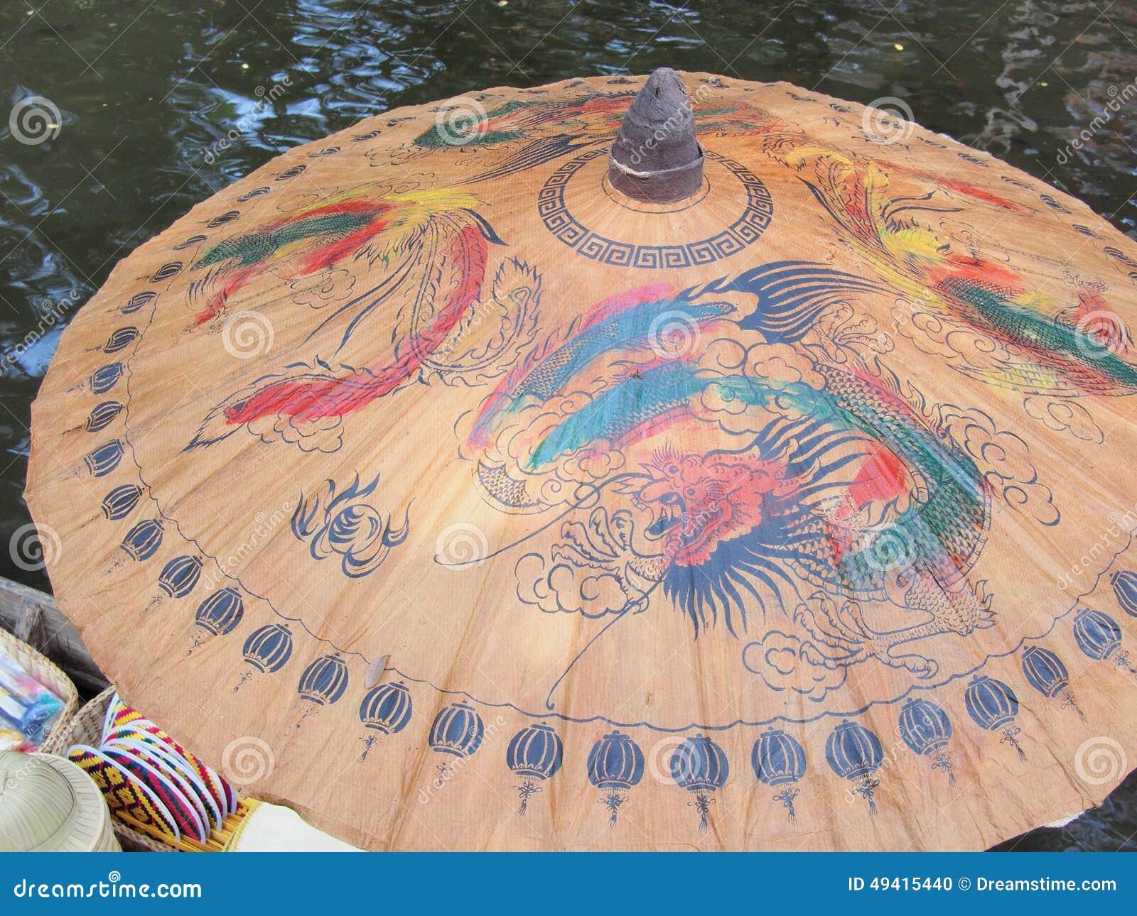 Download Gemalter Regenschirm Der Chinesischen Art Stockfoto - Bild von draw, traditionell: 49415440