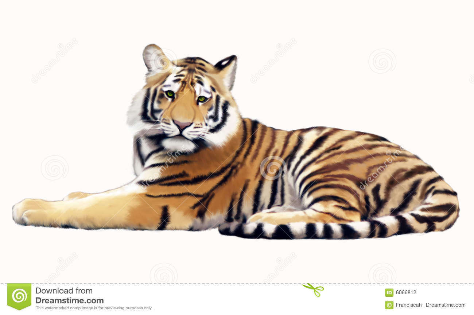 gemalter tiger stockfotografie bild 6066812. Black Bedroom Furniture Sets. Home Design Ideas