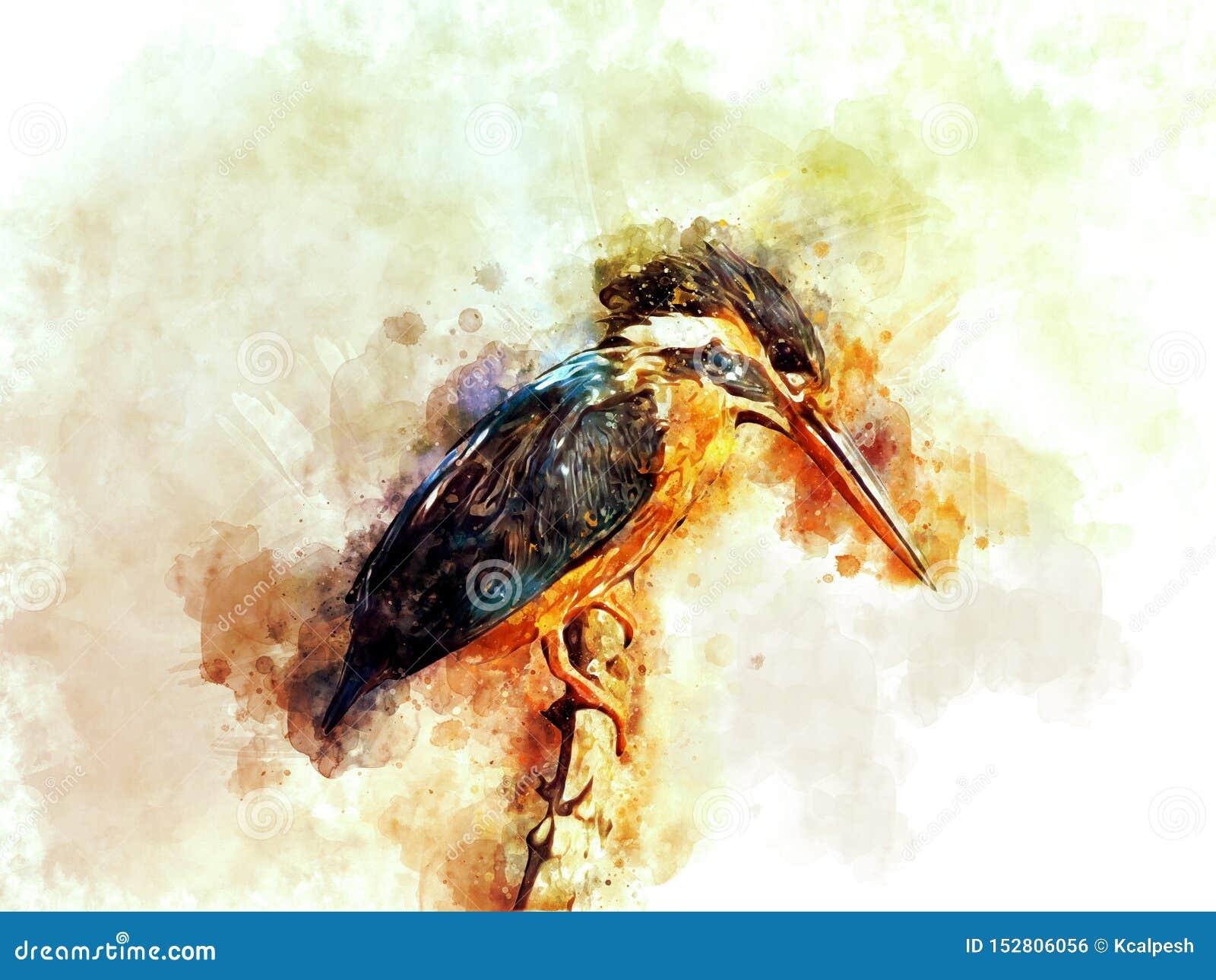Gemeenschappelijk Ijsvogel Digitaal Art.