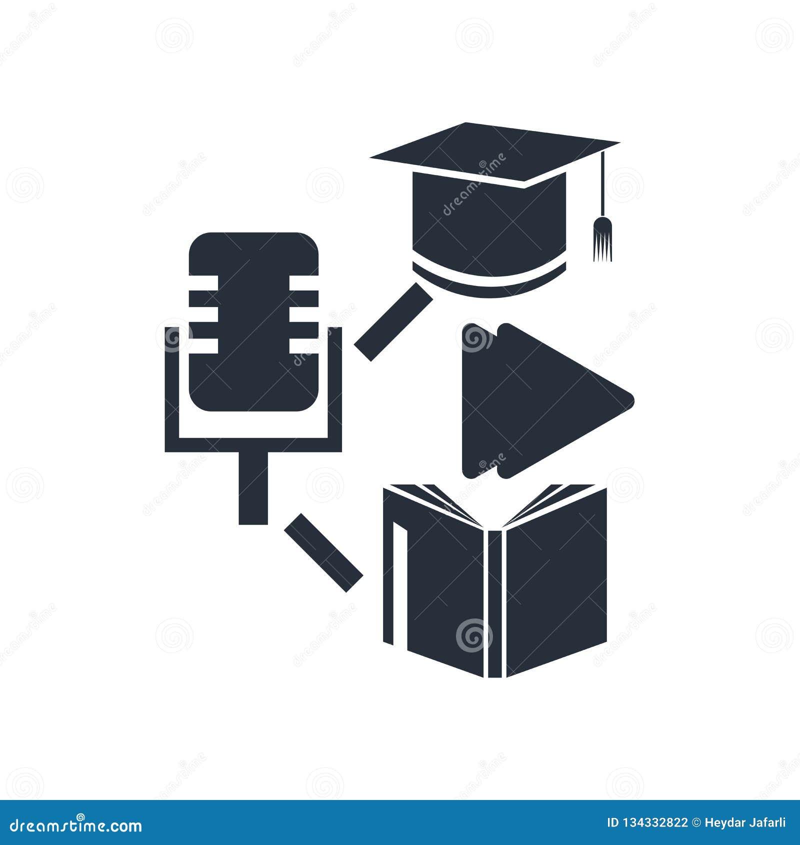 Gemengd het leren pictogram vectordieteken en symbool op witte achtergrond, Gemengd het leren embleemconcept wordt geïsoleerd
