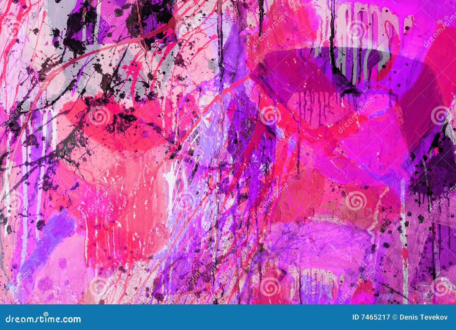 Gemengde technieken het abstracte schilderen stock afbeelding afbeelding 7465217 - Schilderen gemengde kamer ...