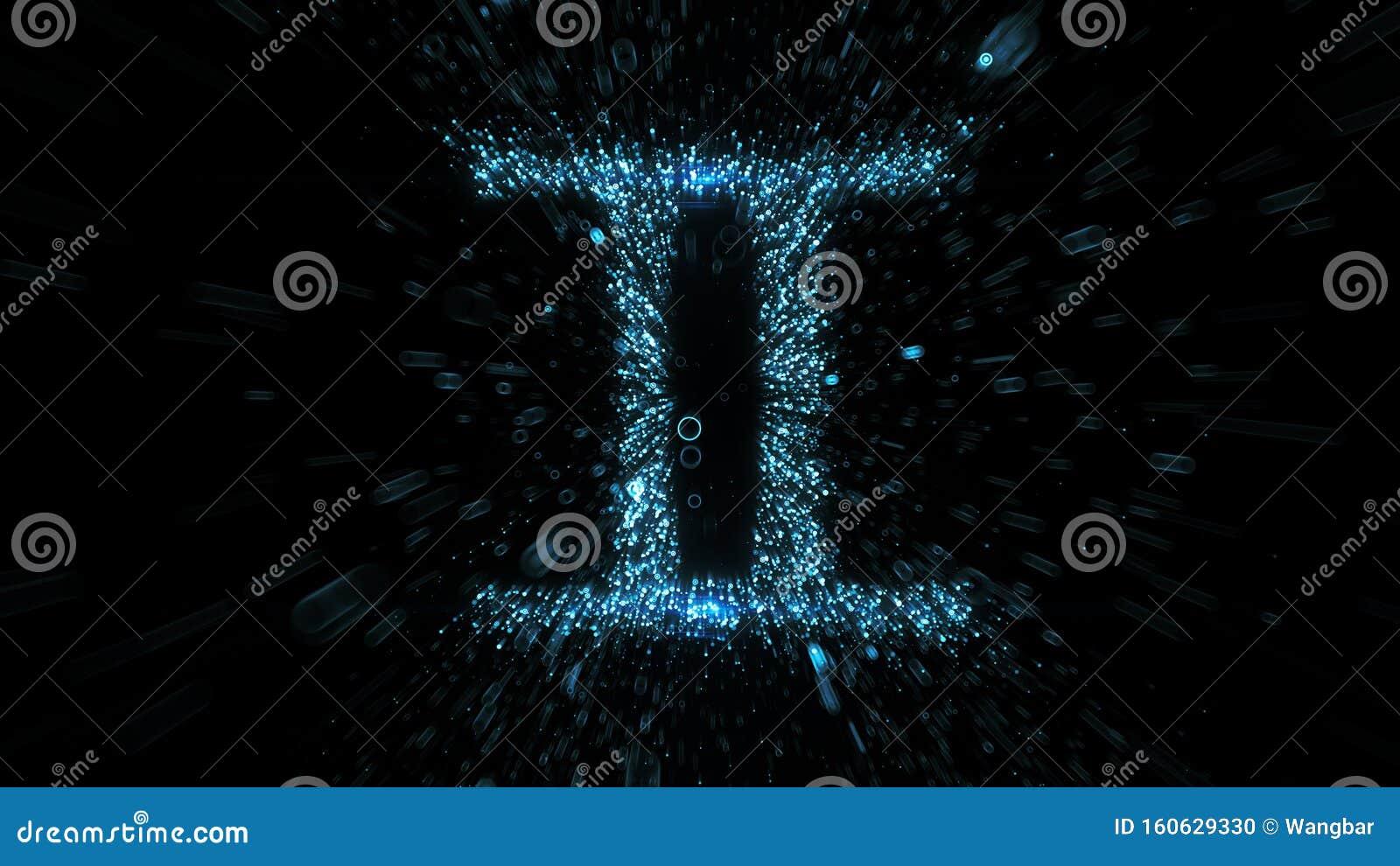 Gemini astrological symbol in space