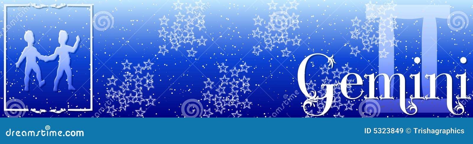 Download Gemini Dello Zodiaco Della Bandiera Illustrazione di Stock - Illustrazione di segno, scale: 5323849
